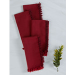 Chambray Napkins Set of 4, Red