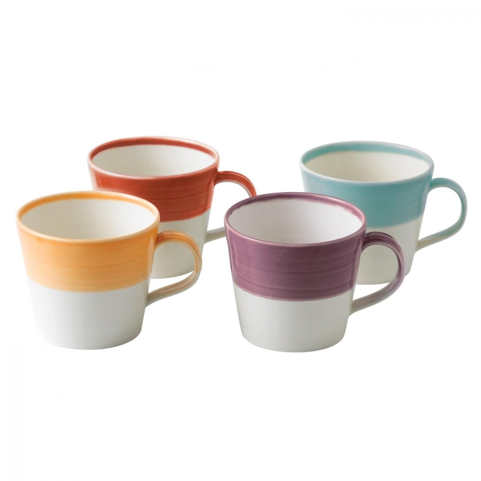 Royal Doulton 1815 Bright Colors Mugs Set of 4