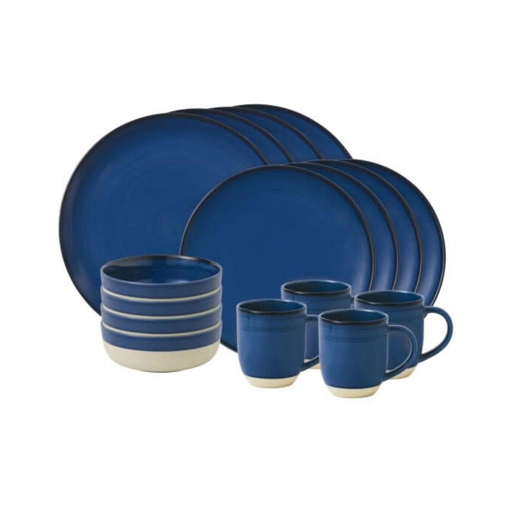 Royal Doulton Cobalt Blue Brushed Glaze 16 Piece Set