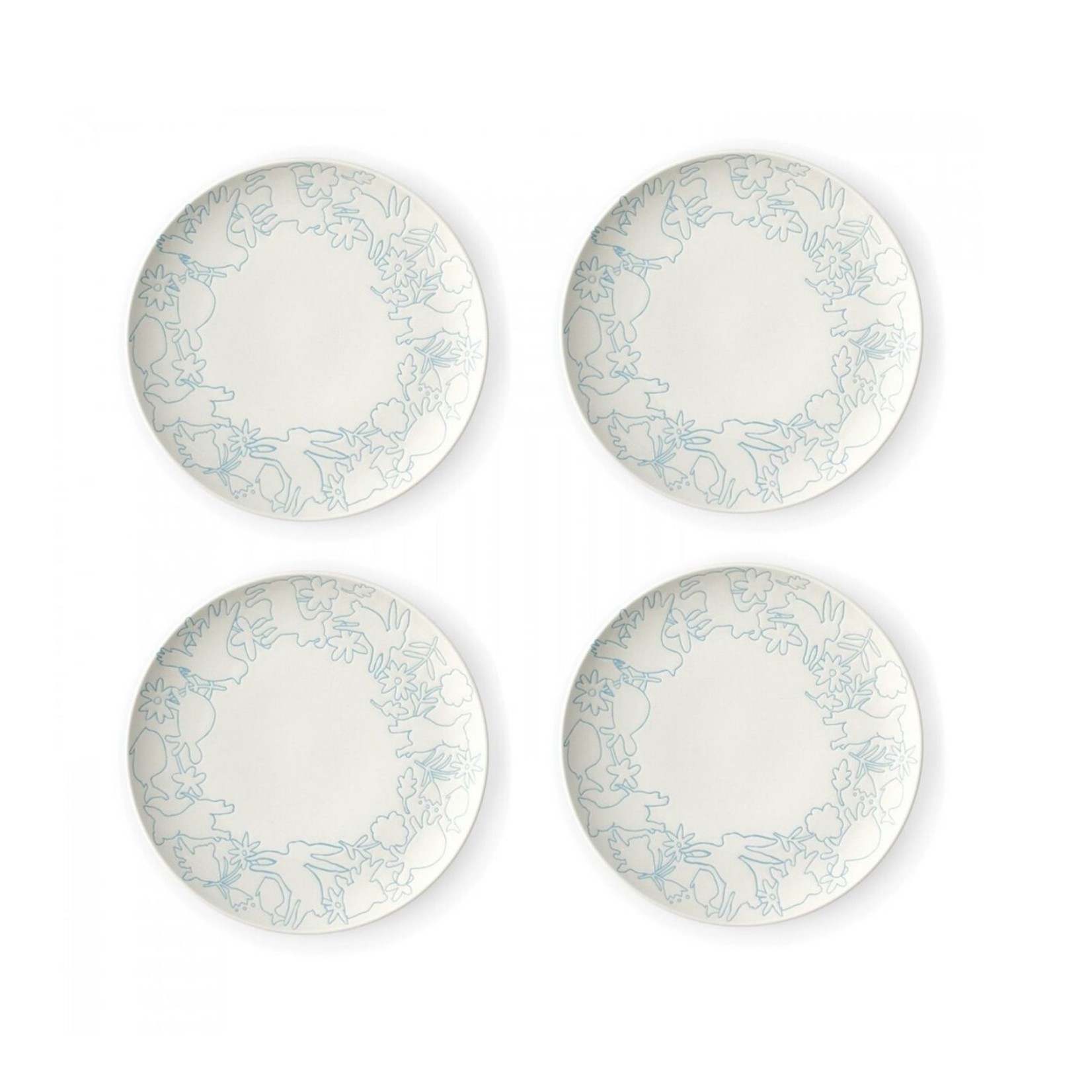 "Polar Blue 8"" Accents Plates Set of 4"