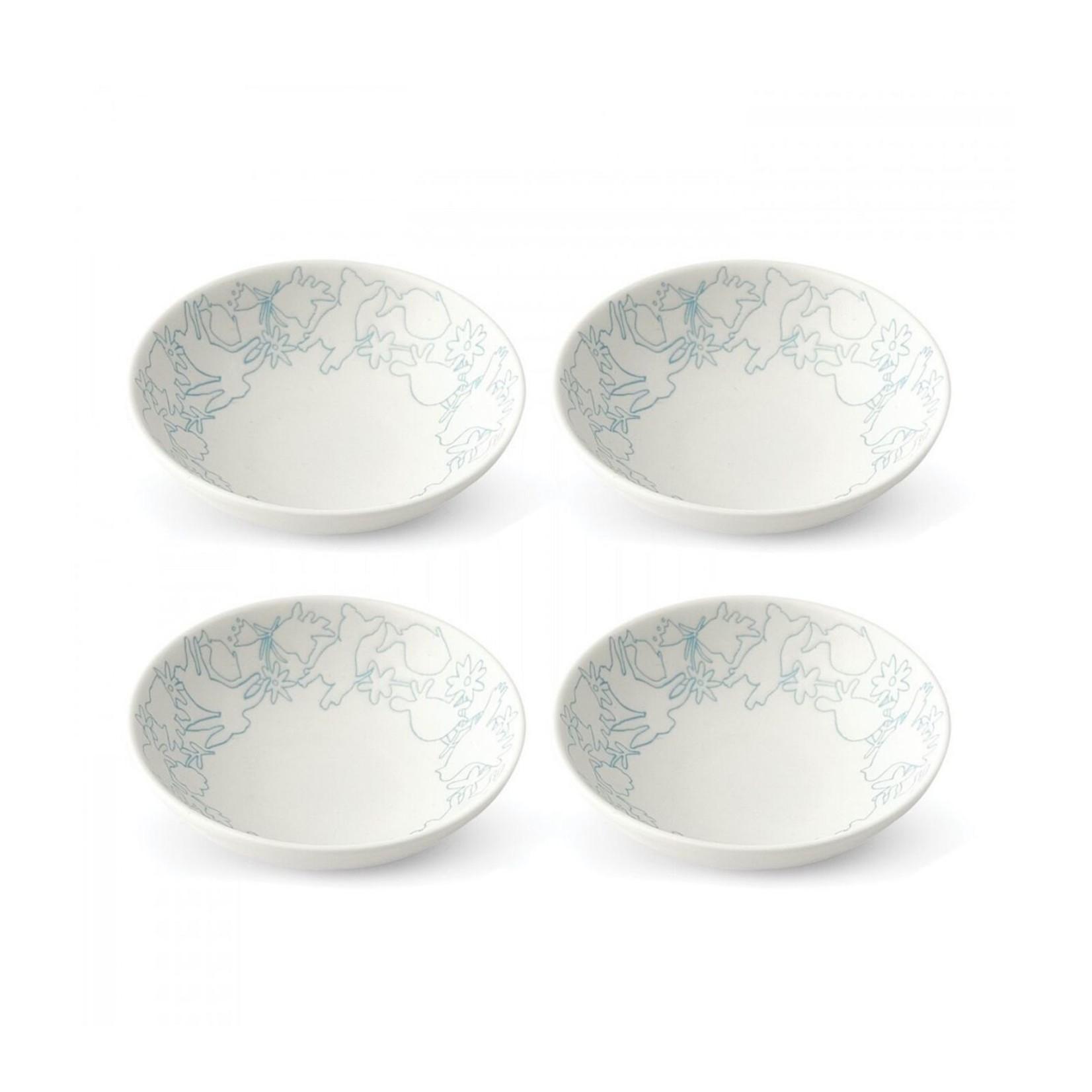 Polar Blue Accents Bowls Set of 4