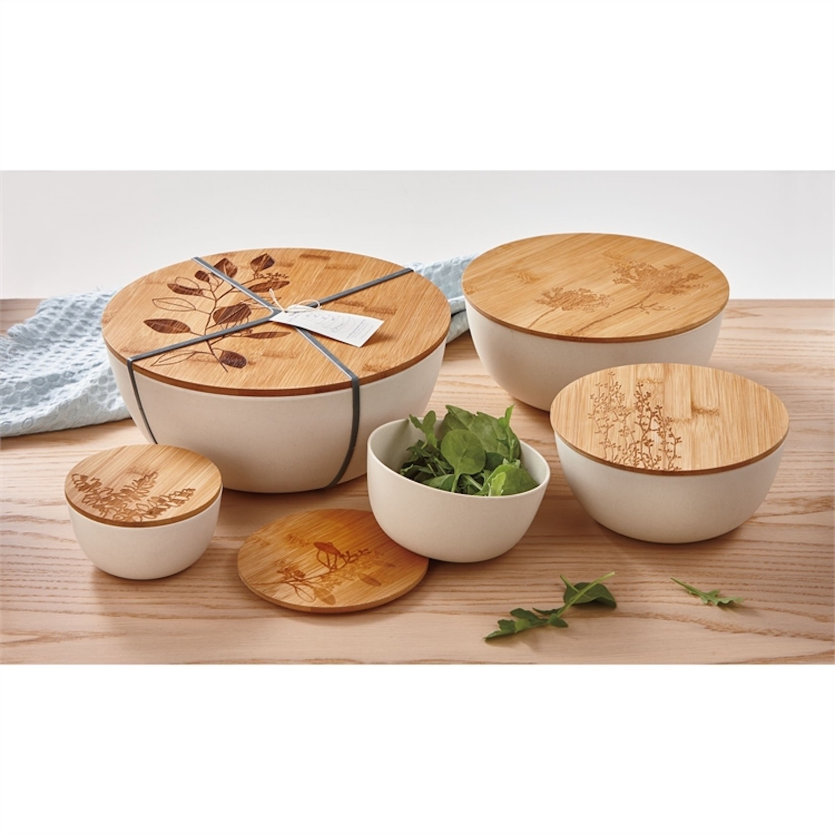 Bamboo Bowl With Lid (Multiple Options)