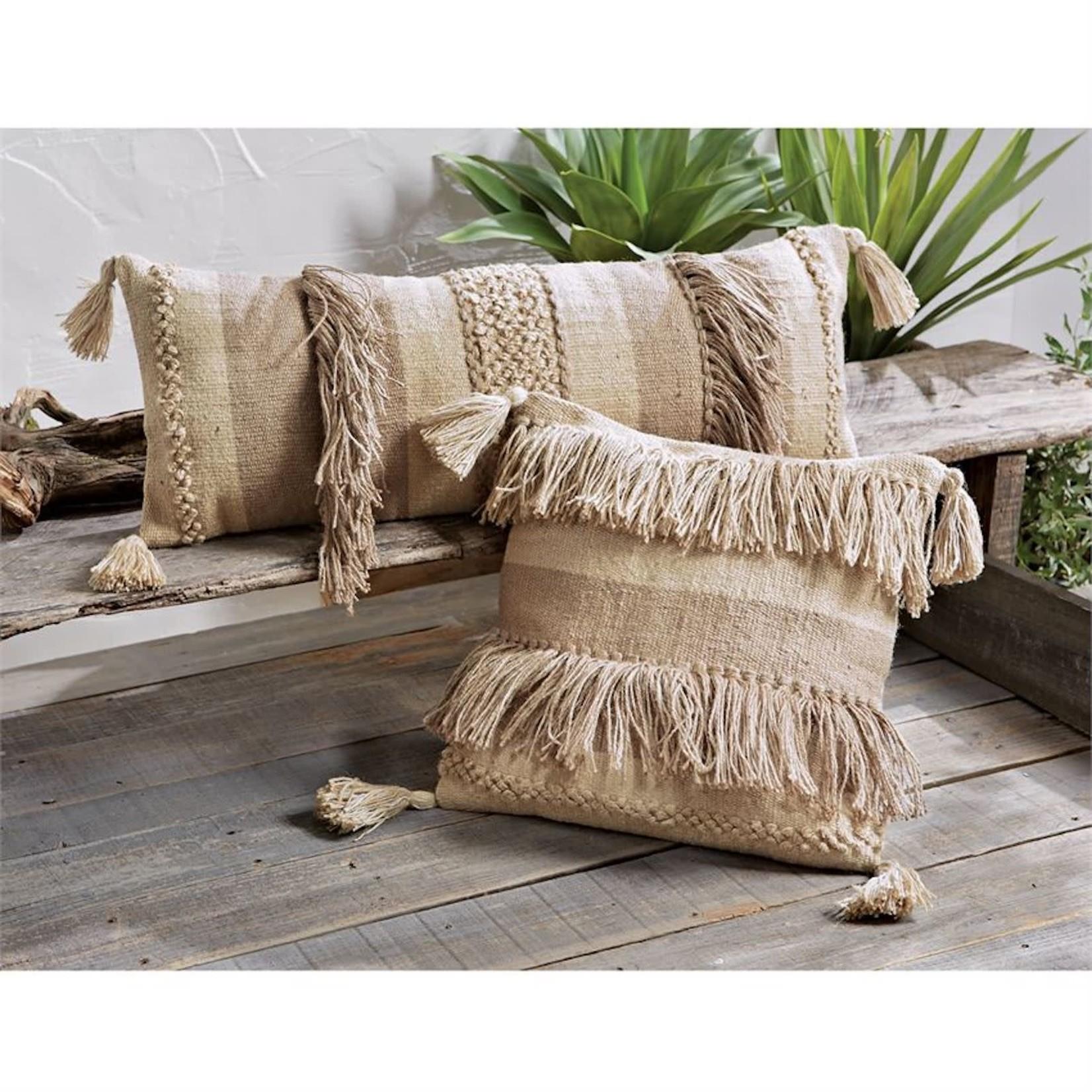 Jute Fringe Pillows