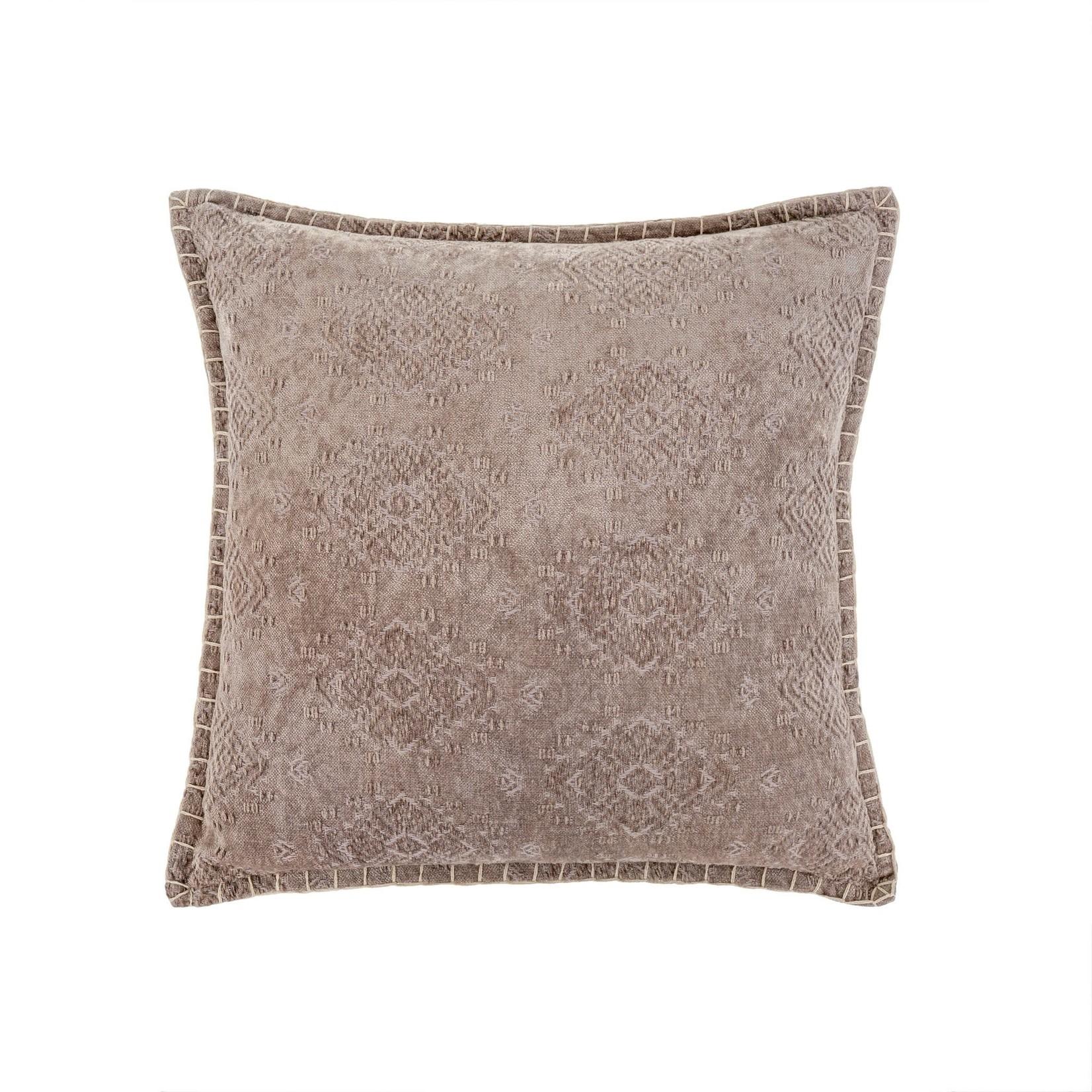 Jacquard Velvet Pillow Light Brown