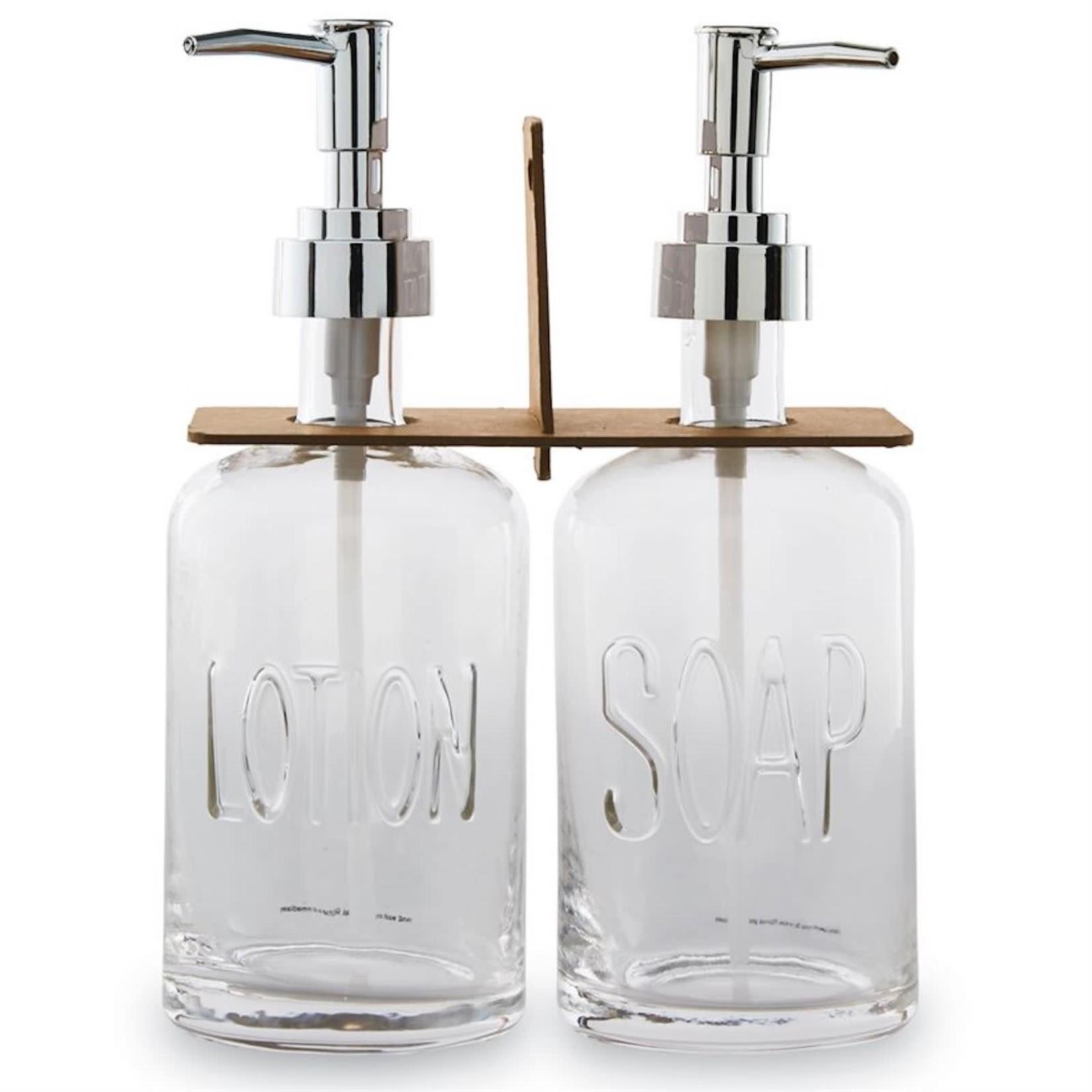 Glass Soap Pump Set