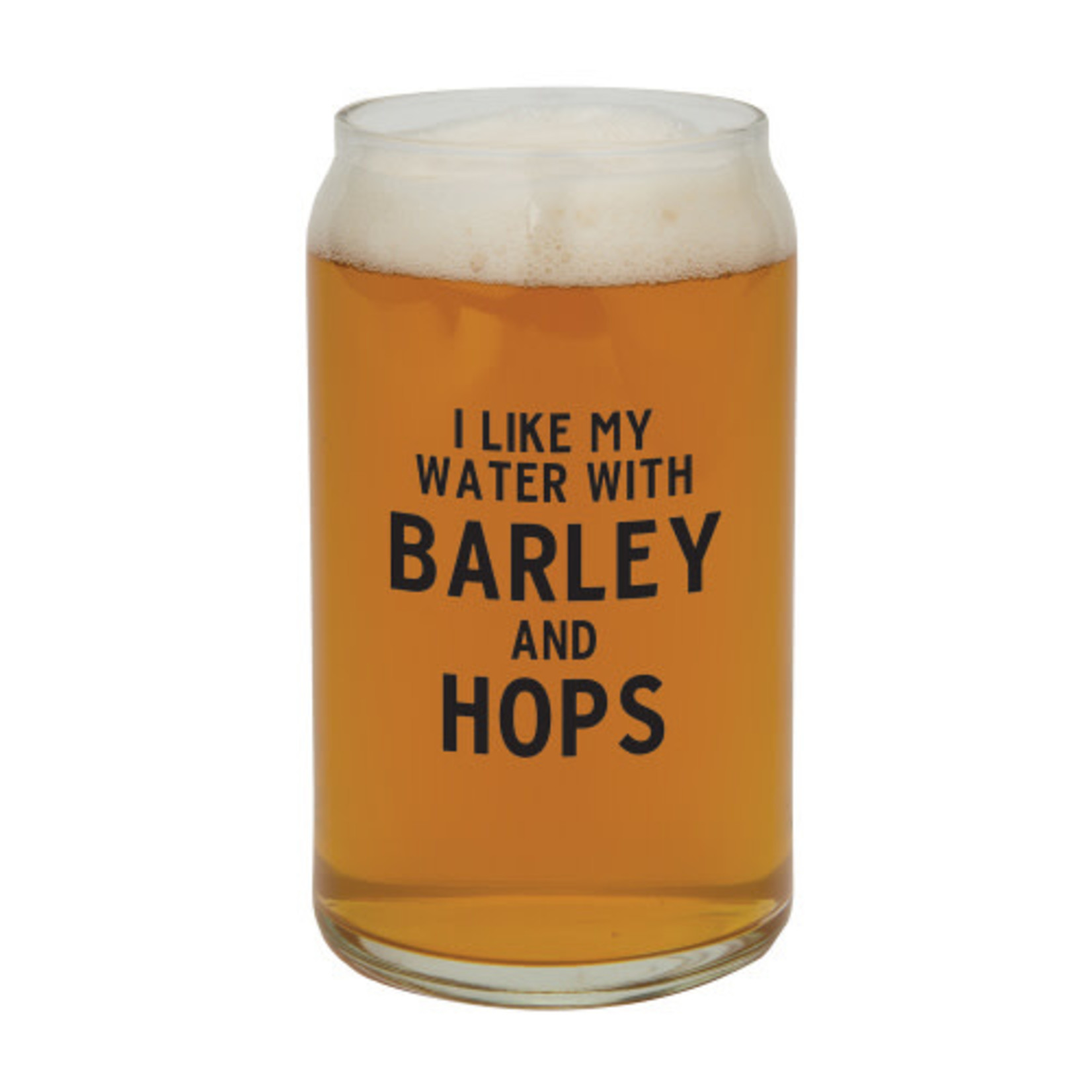 Beer Can, Barley and Hops