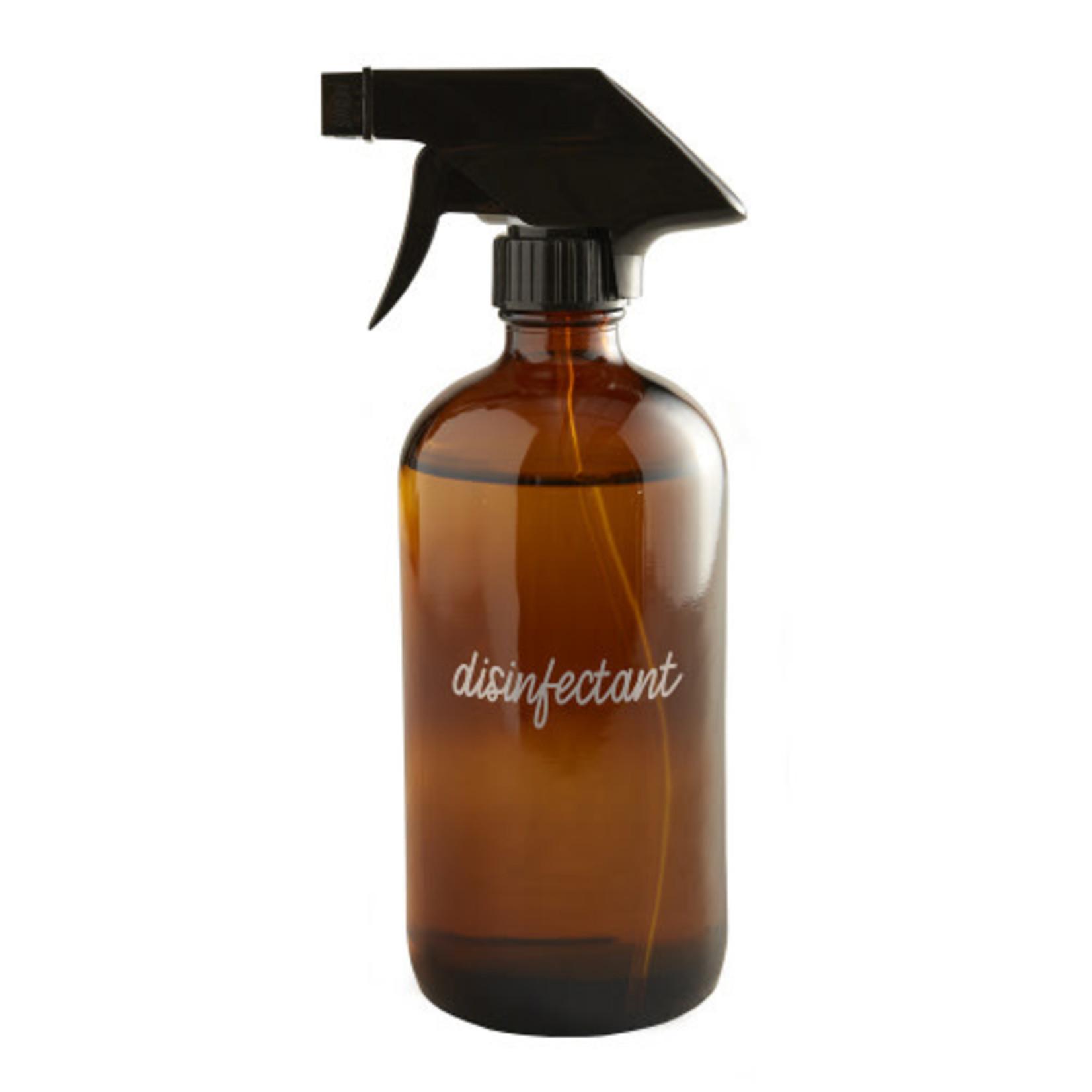 Amber Disinfectant Bottle