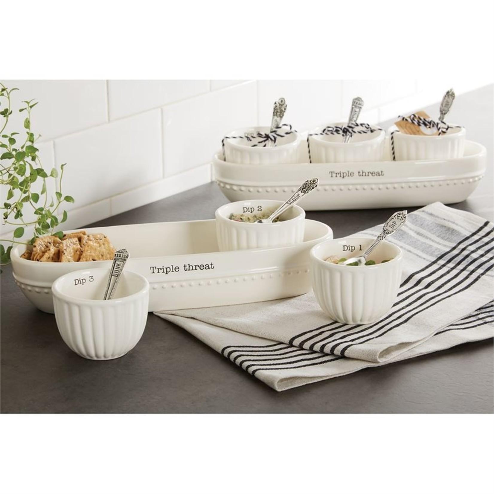 Circa Dip & Cracker Bowl Set