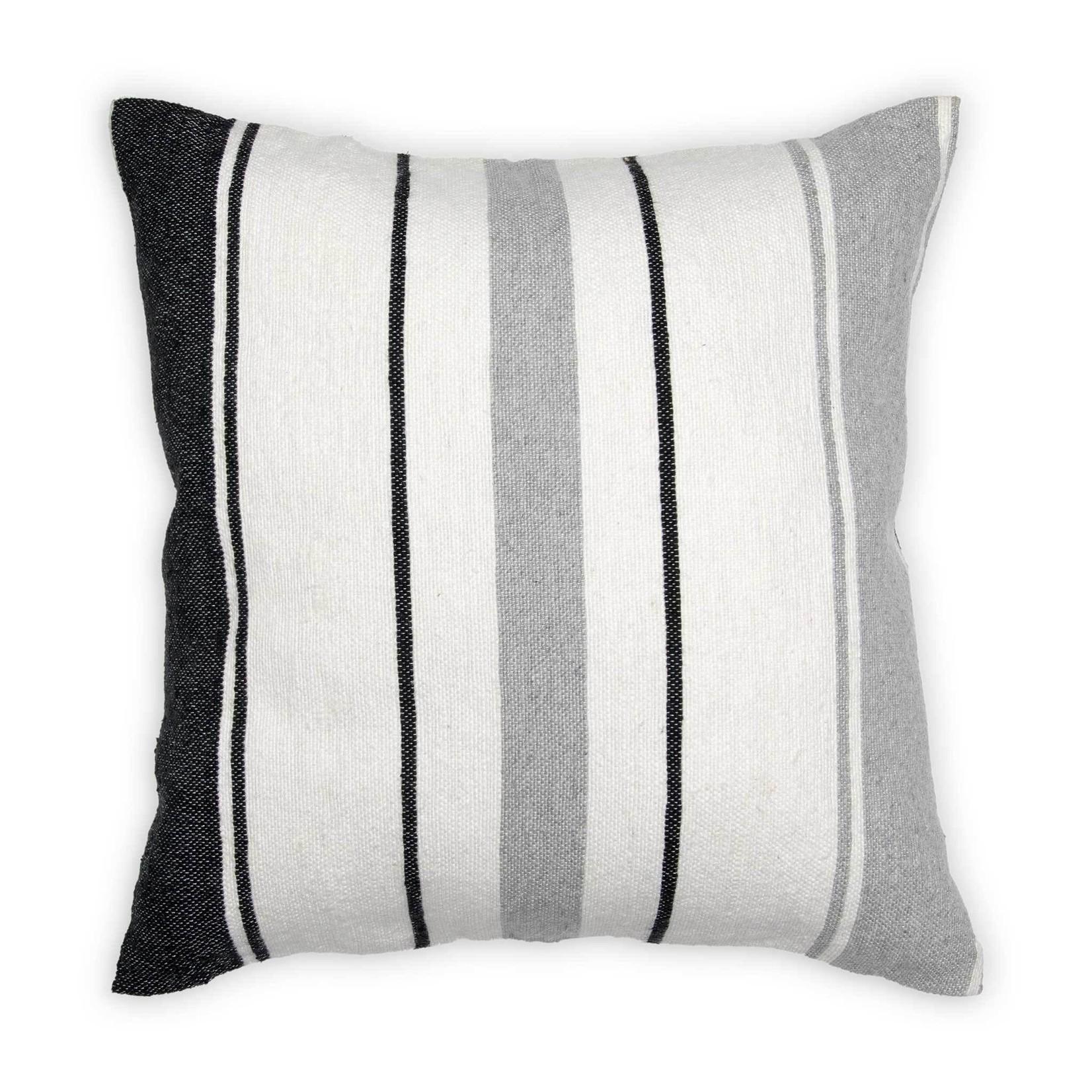 "Moroccan Pom Pom Pillow - 18""x18"" Multi Stripe"