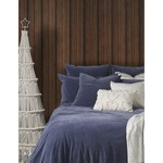 Saphyr Blue Velvet Duvet Cover, Queen