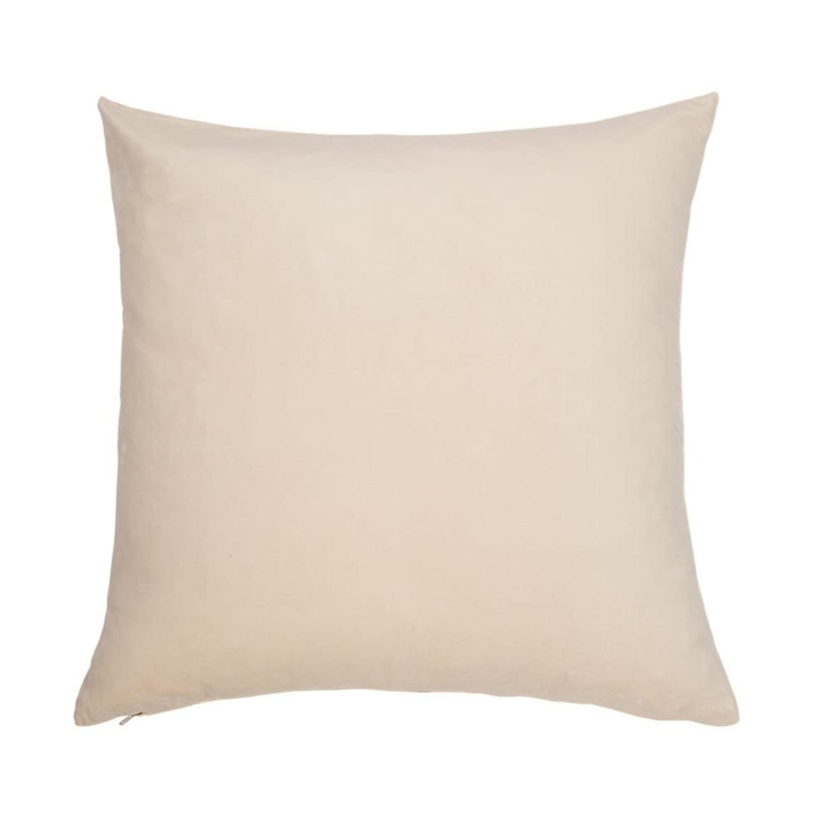 Velvet Euro Pillow, Cream