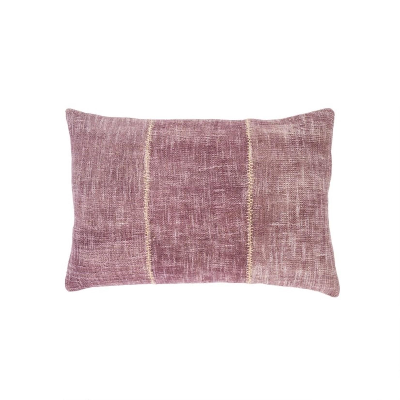 Stonewash Stitch Pillow, Plum