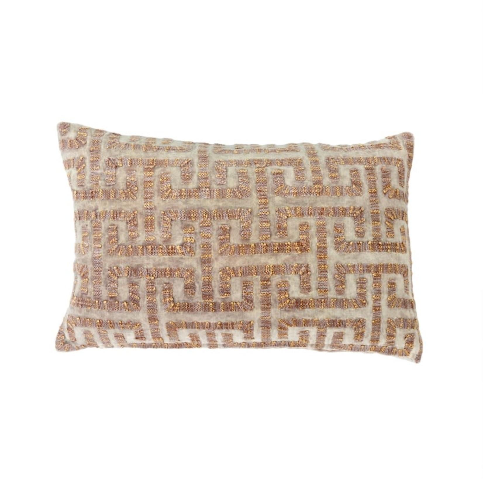 Liza Velvet Pillow, Taupe