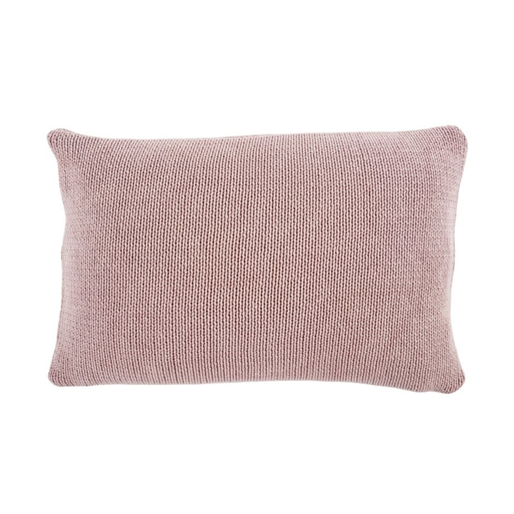 Cotton Knit Pillow, Lilac