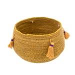 Bella Basket Pot, Yellow