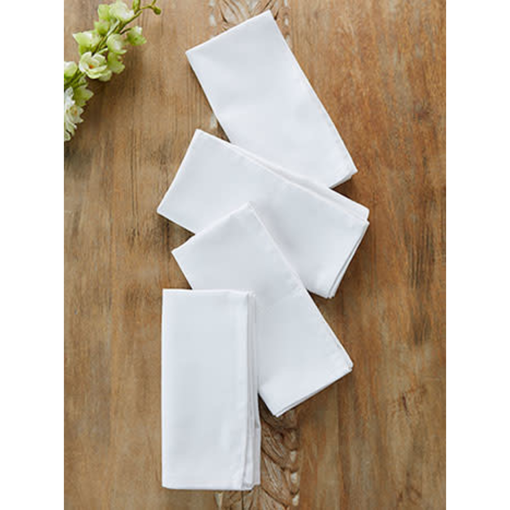 Hemmed Essential Napkin Set of 4 White