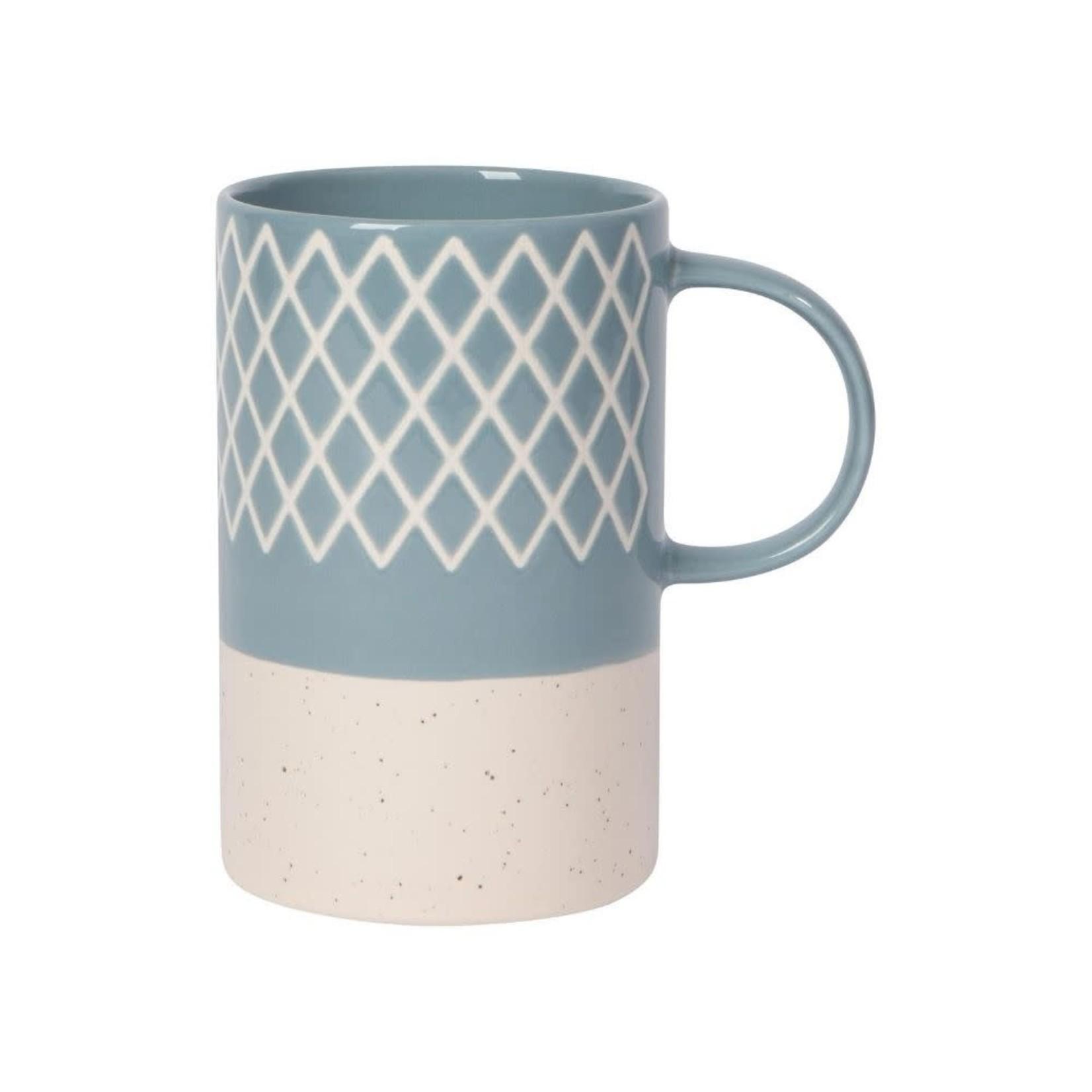 Now Designs Slate Blue Etched Mug