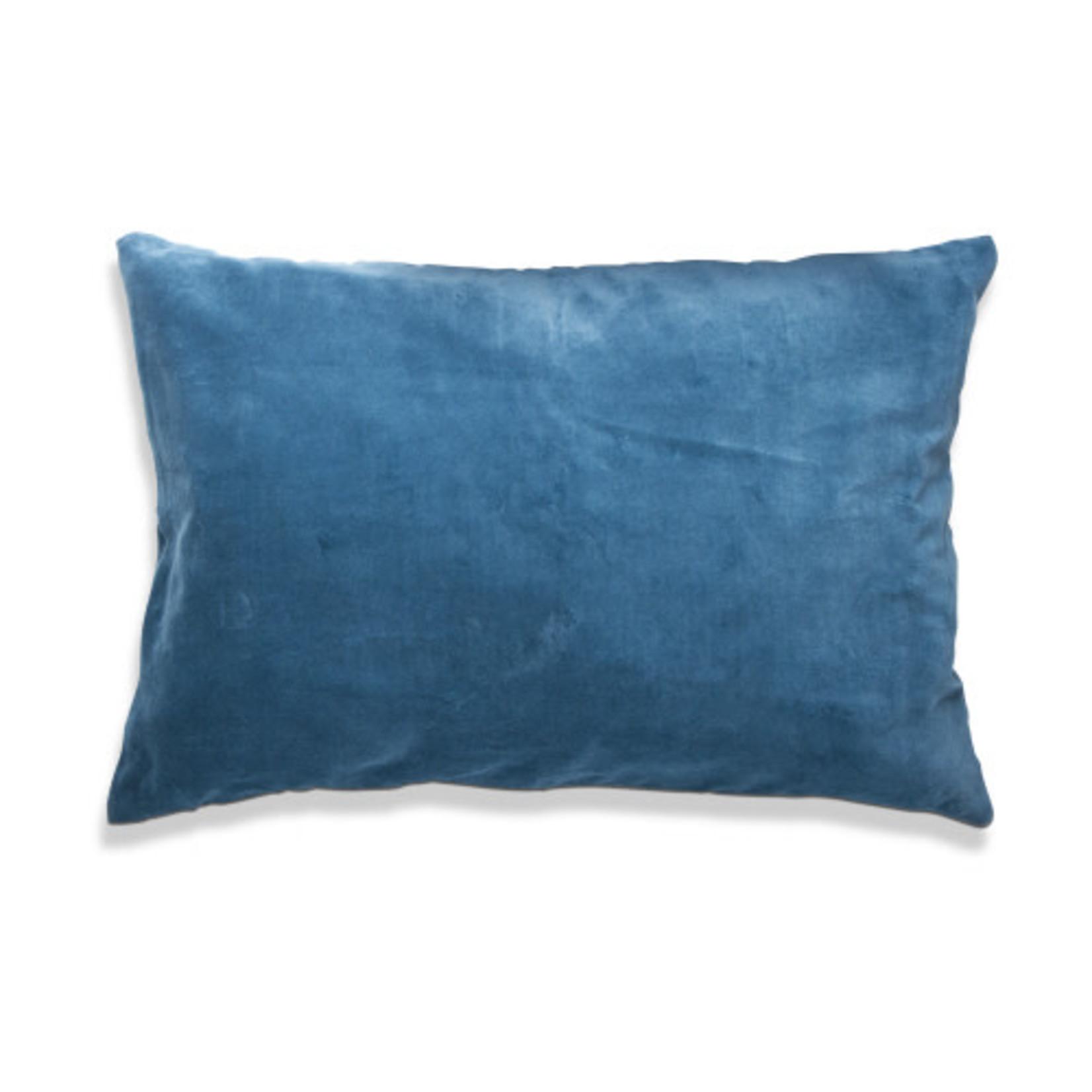 Velvet Lumbar Pillow Teal