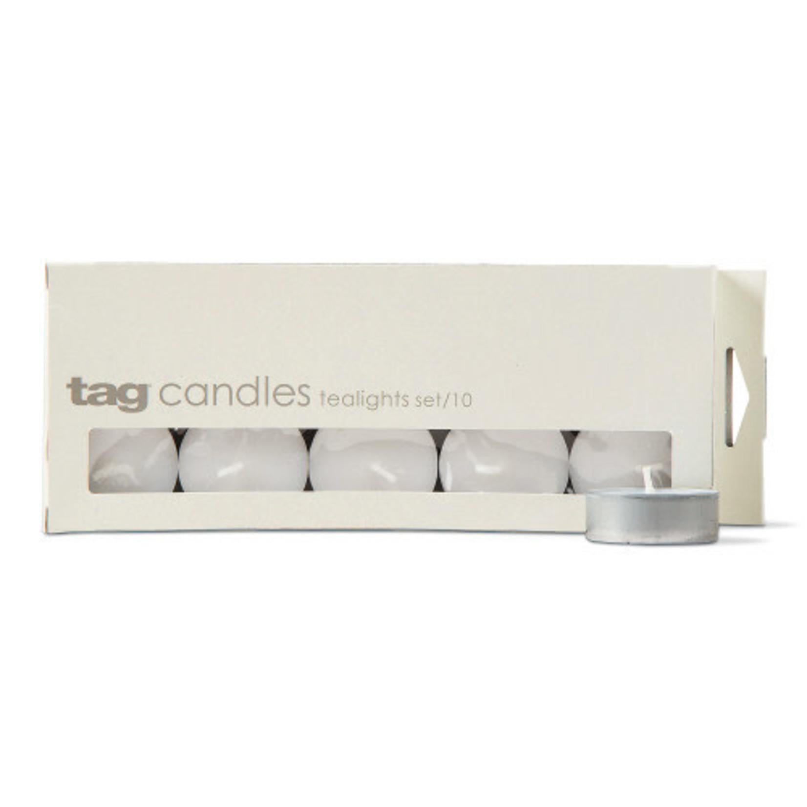 Basic Tealight Candles Set of 10 White