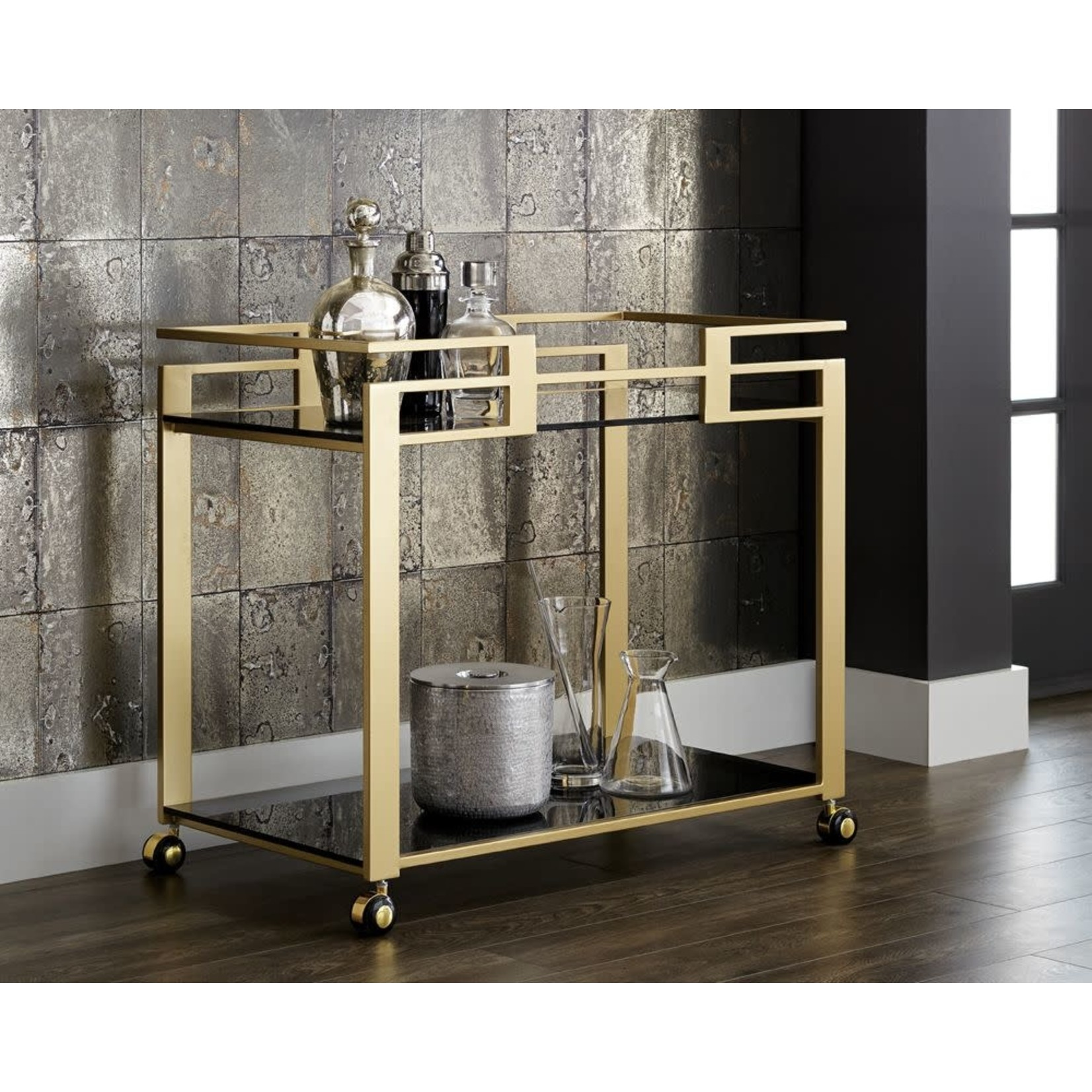 Avondale Gold Bar Cart