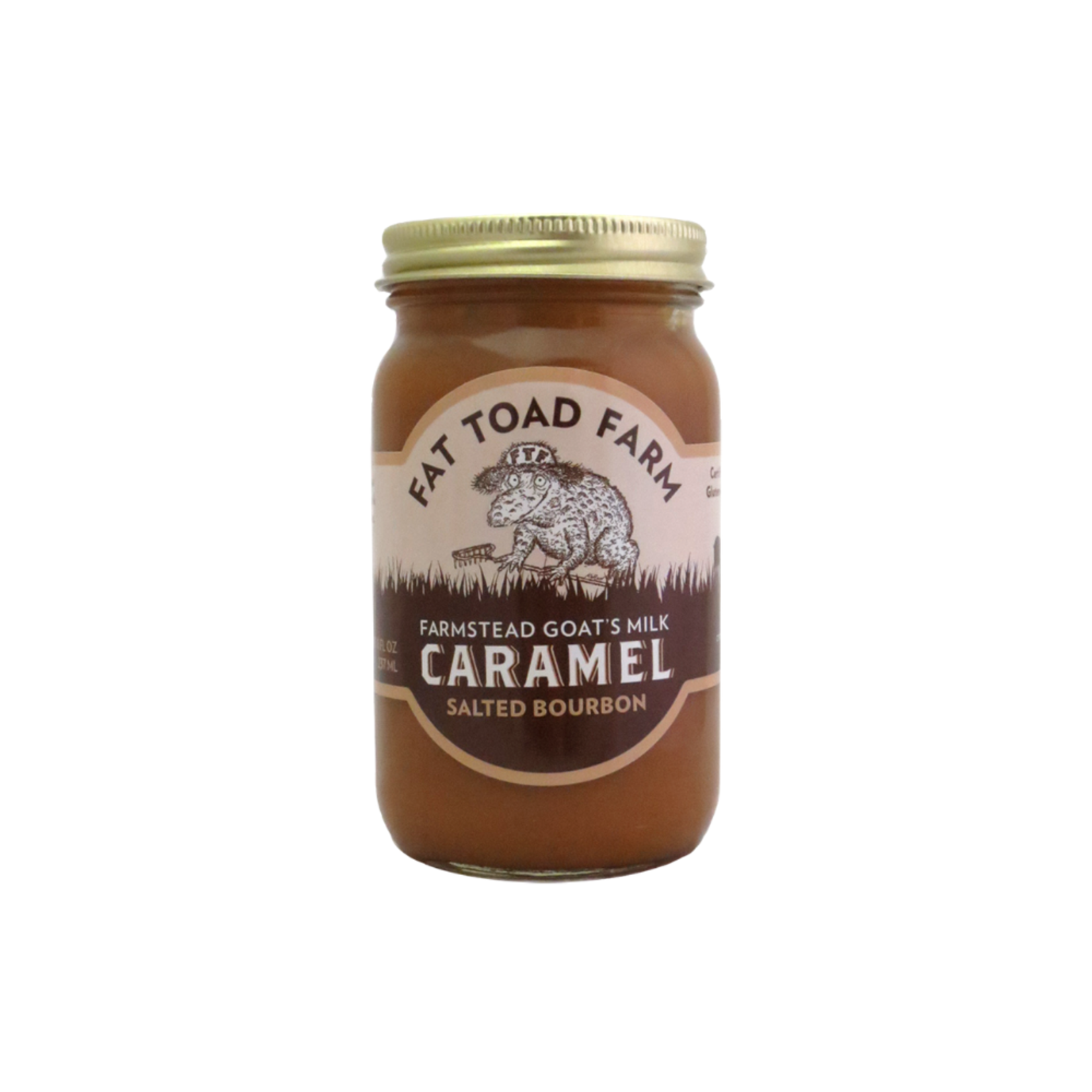 8oz Salted Caramel Bourbon Goat's Milk Caramel