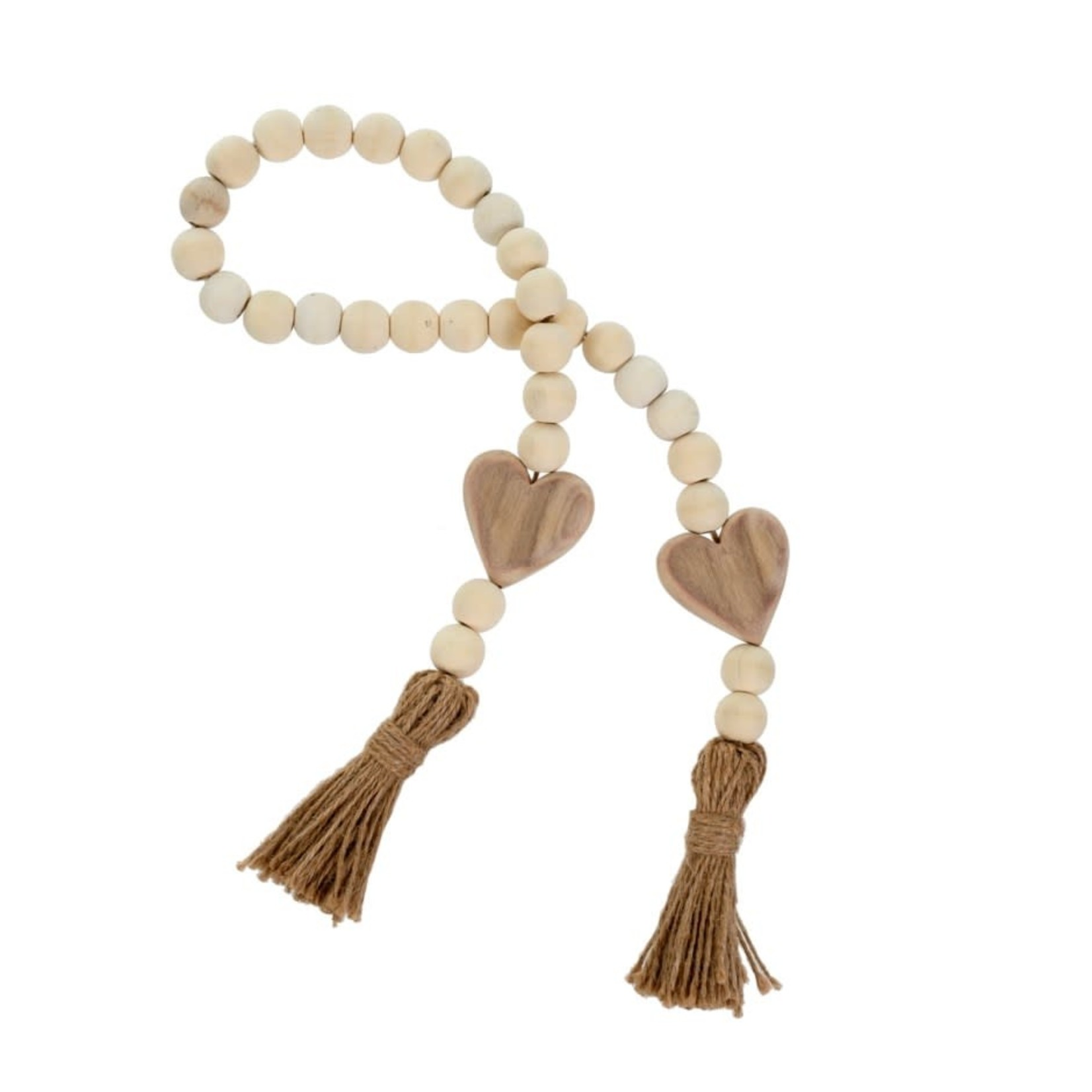 Natural Heart Blessing Beads