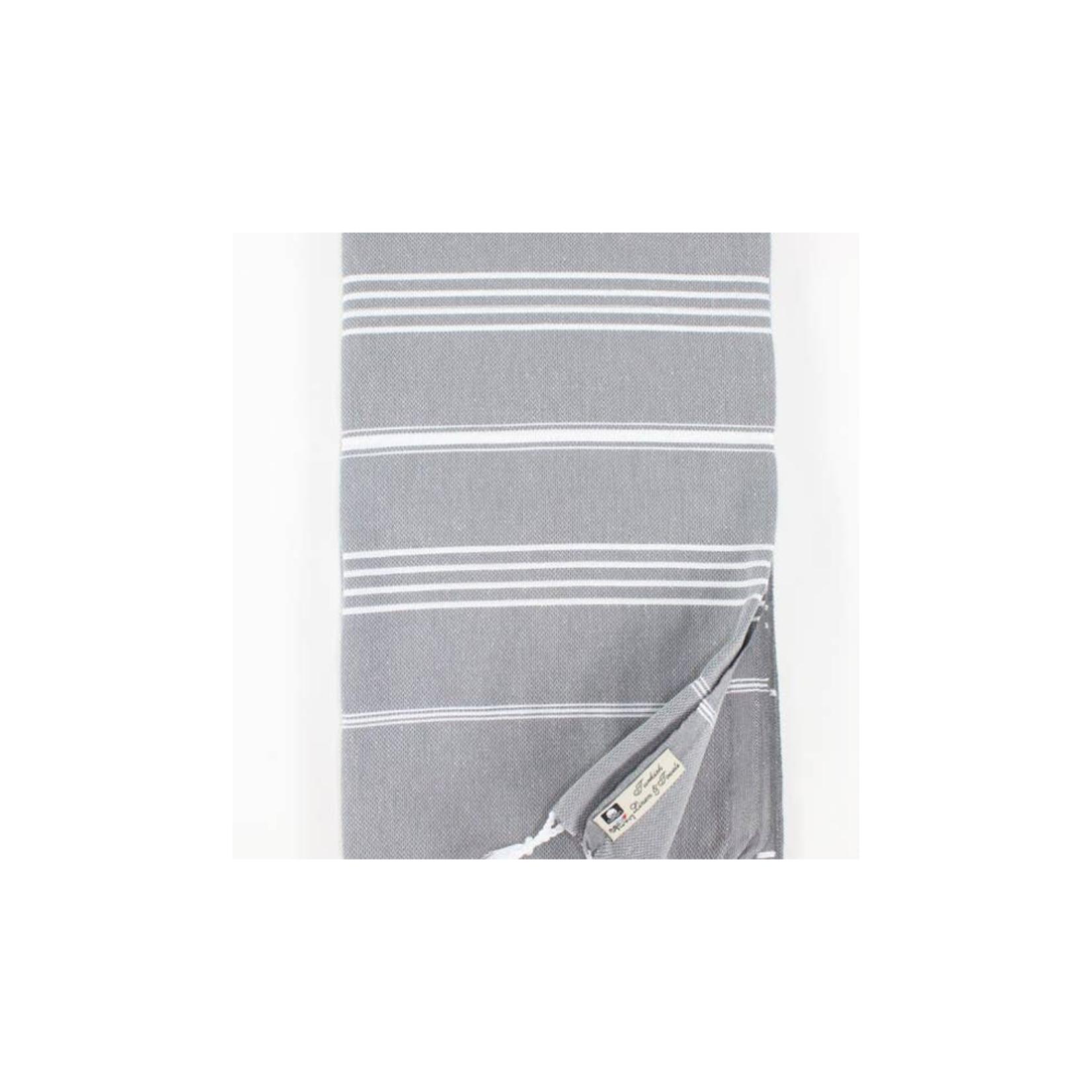 Premium Turkish Peshtemal Towel: Gray