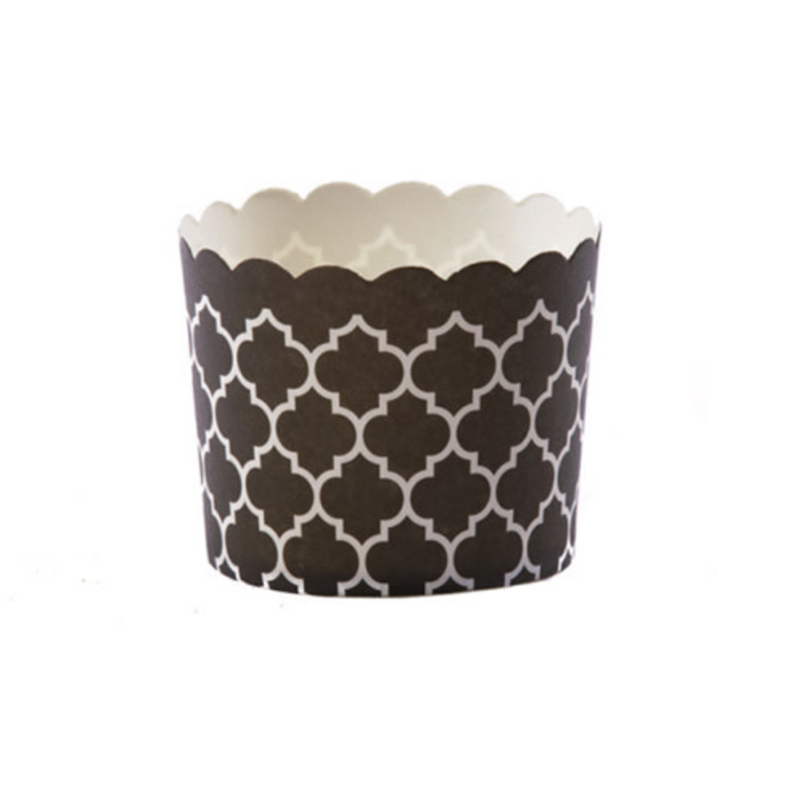Large Black Quatrefoil 20PK Baking Cup
