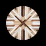 Marquetry Round Mat