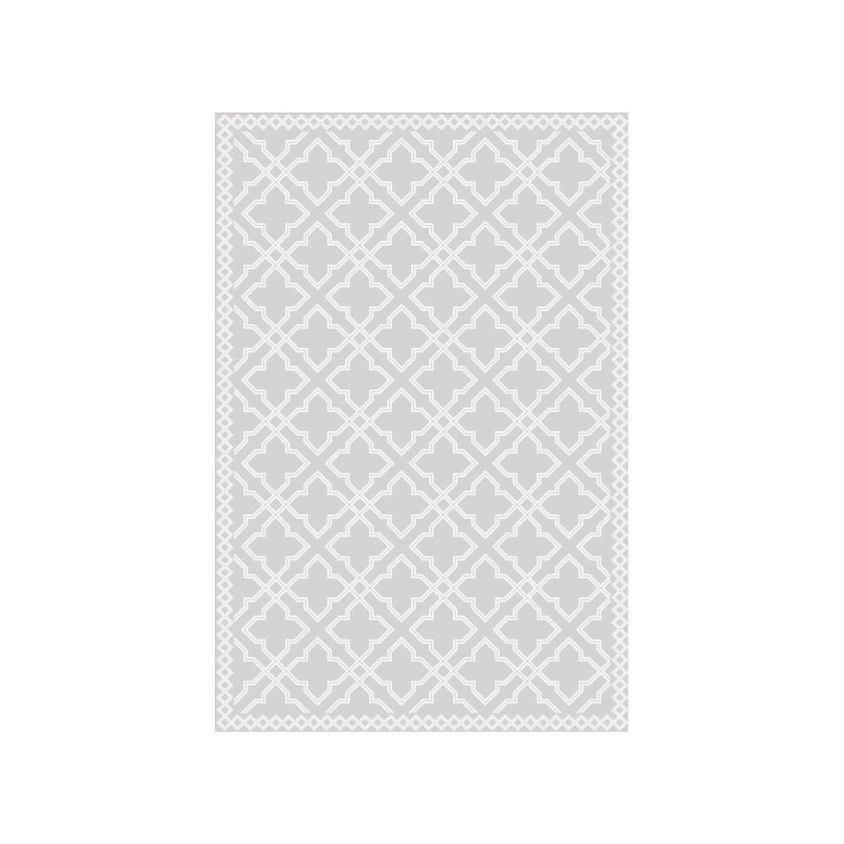 Grey Quatrefoil Floor Mat (Multiple Sizes)