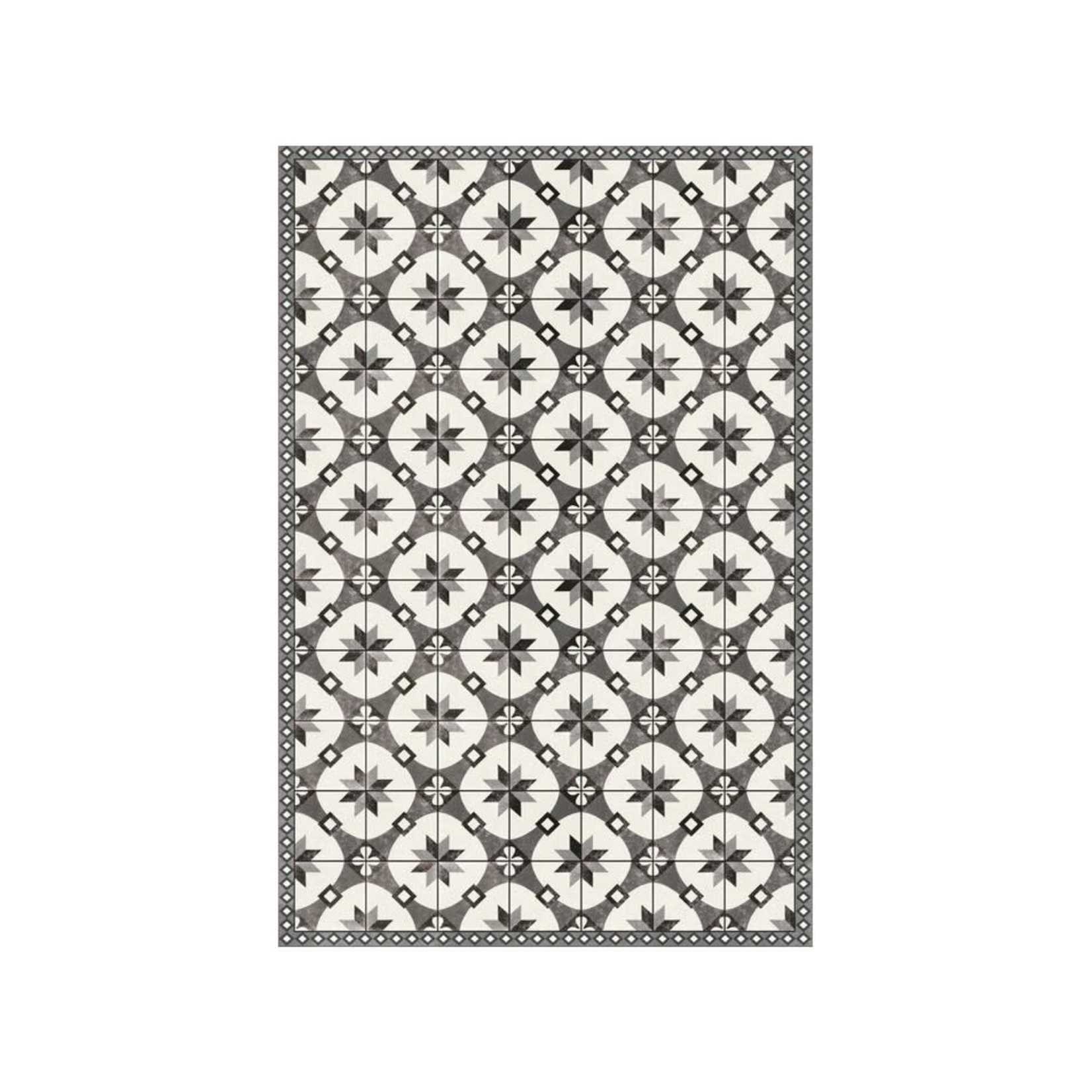 Grey Tiles Floor Mat
