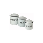 Enameled Containers with Lids