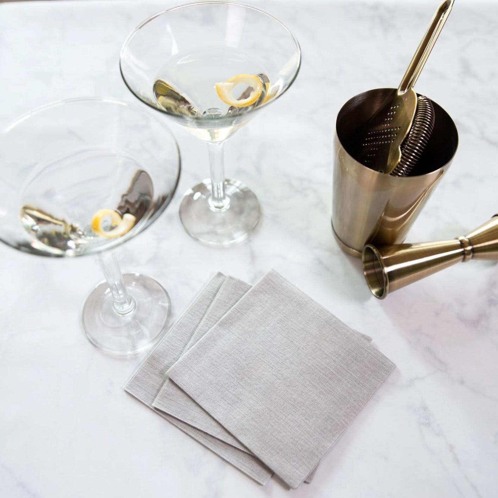 Deluxe Cocktail Napkin, Silver