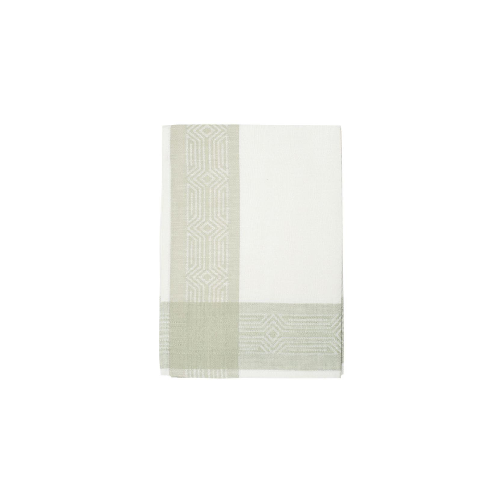 Deco Tea Towels White & Sage