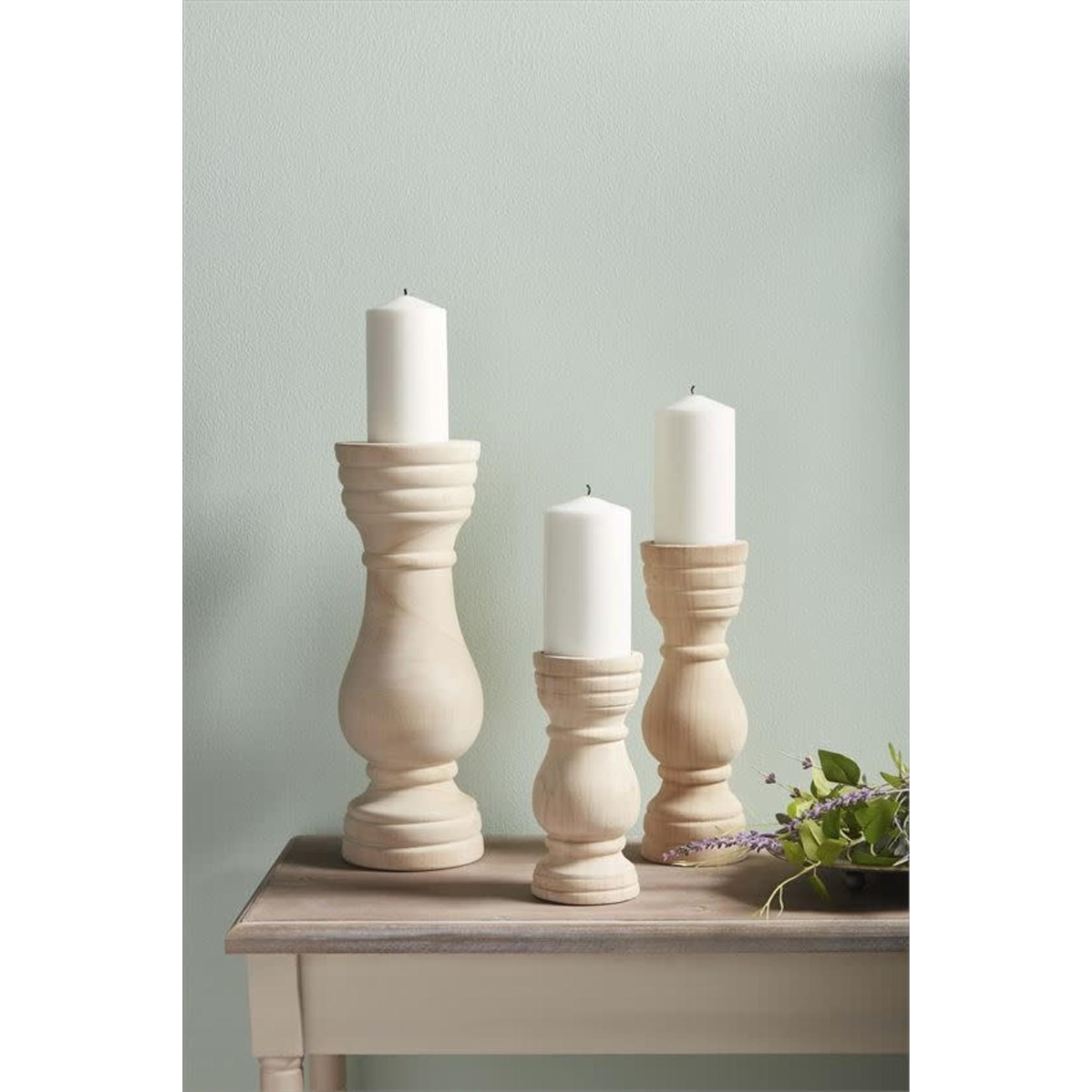 Paulownia Wood Candlestick (Multiple Sizes)