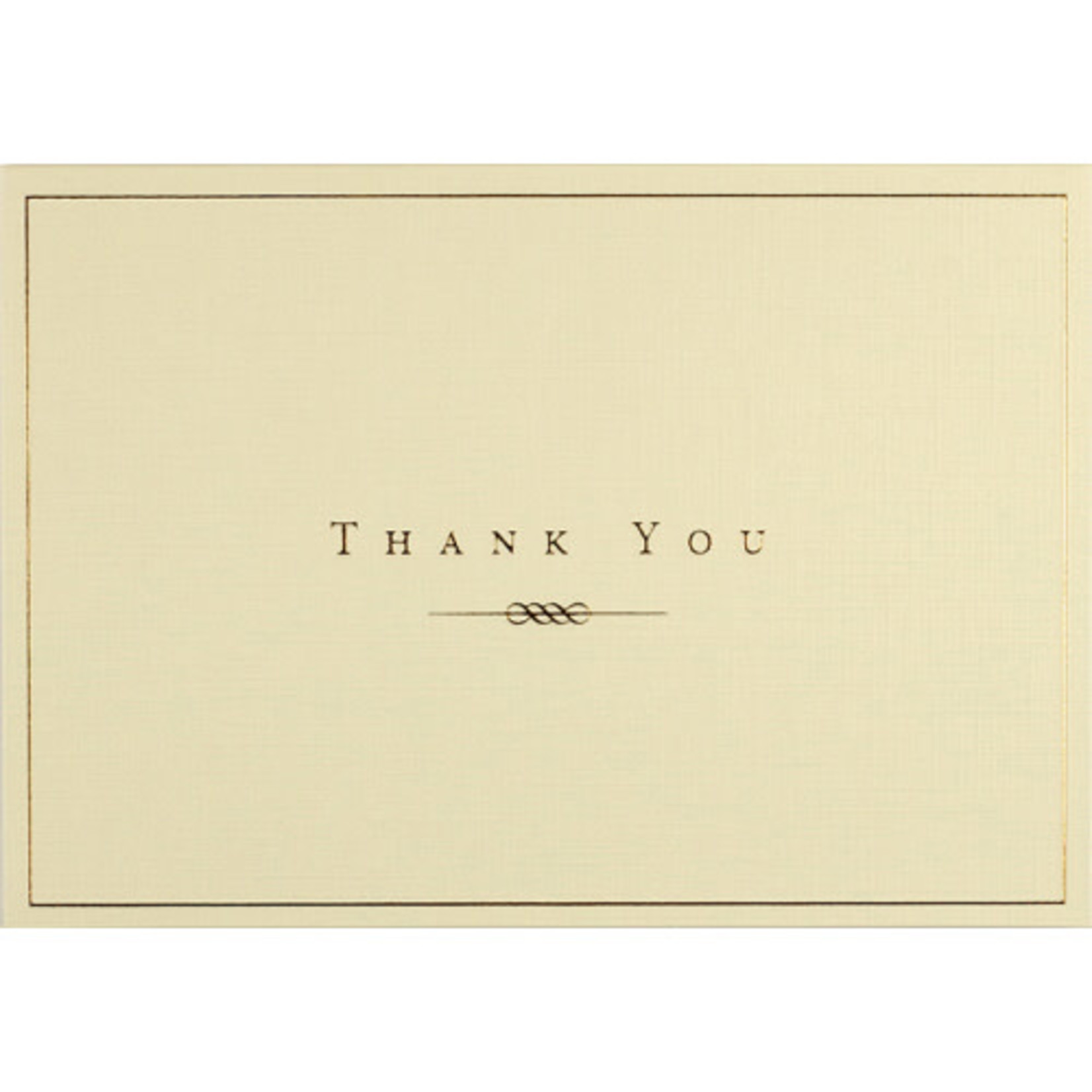 Gold & Cream Thank You Note Cards