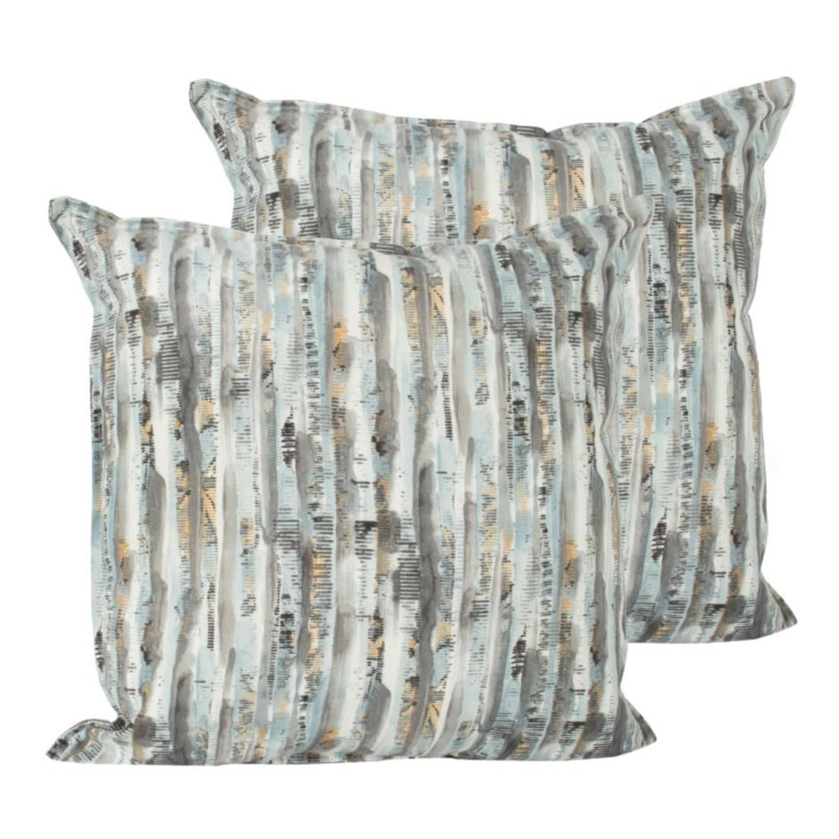 Grey Watercolour Outdoor Pillow