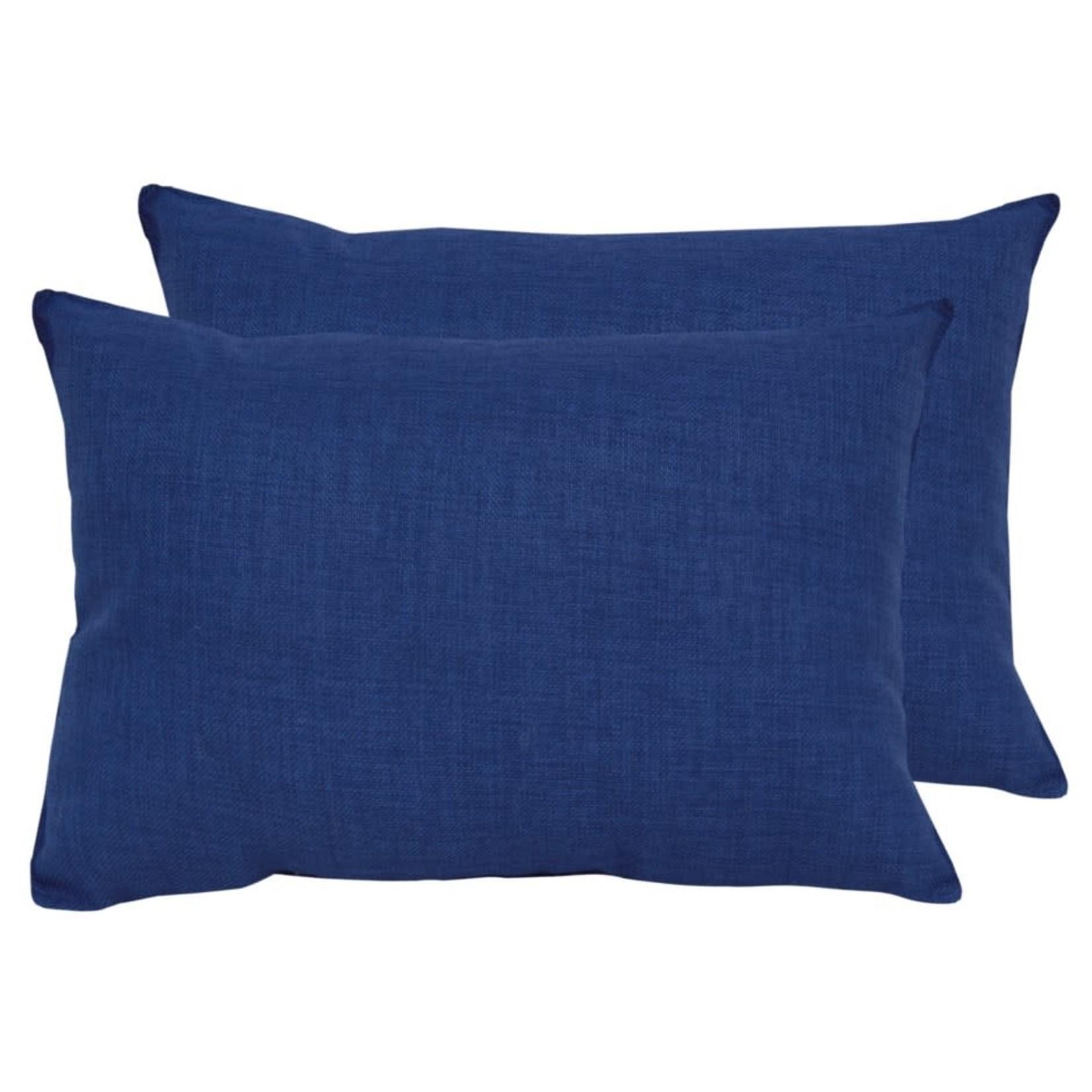 Royal Blue Outdoor Lumbar Pillow