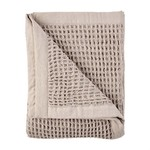 Taupe Waffle Weave Blanket