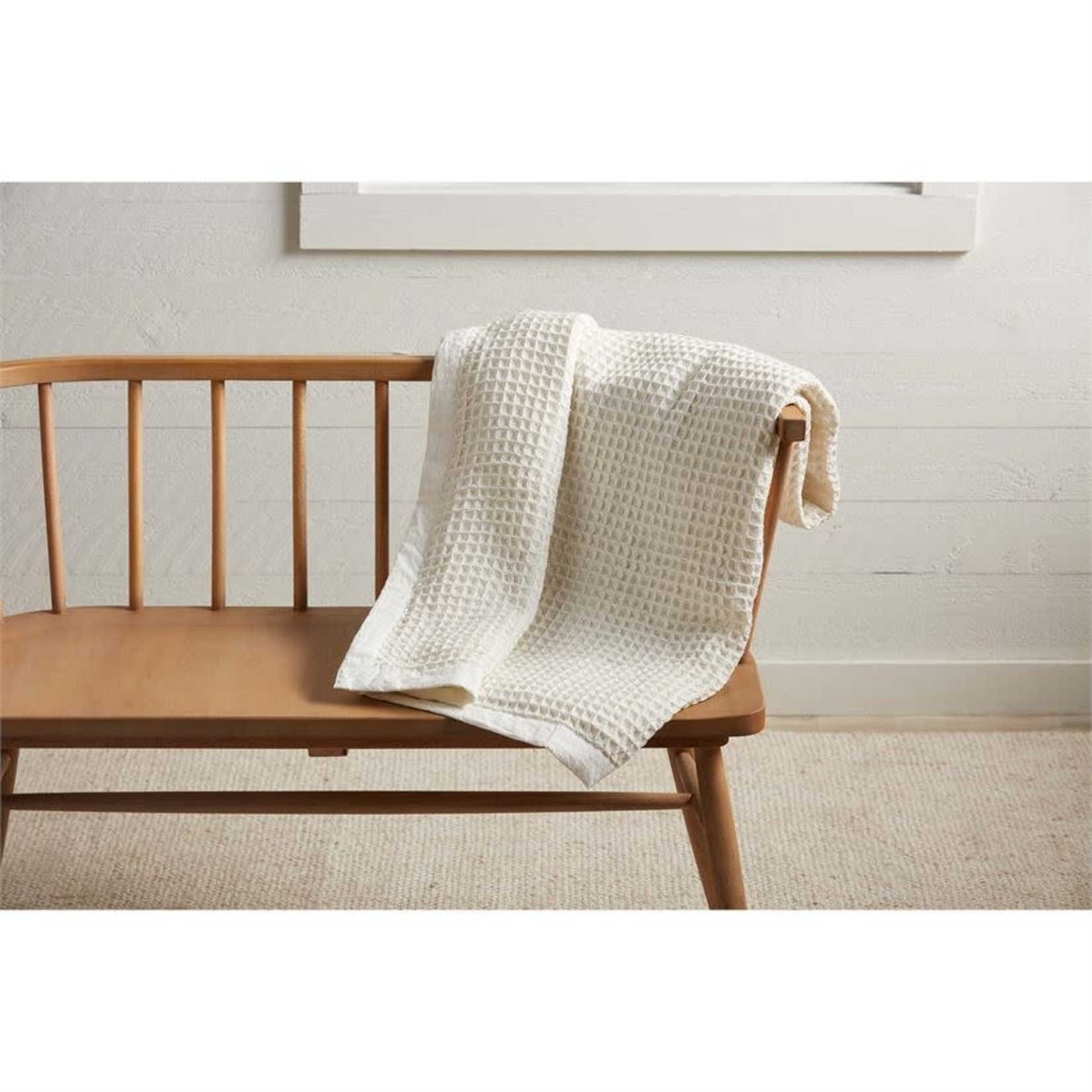 White Waffle Weave Blanket