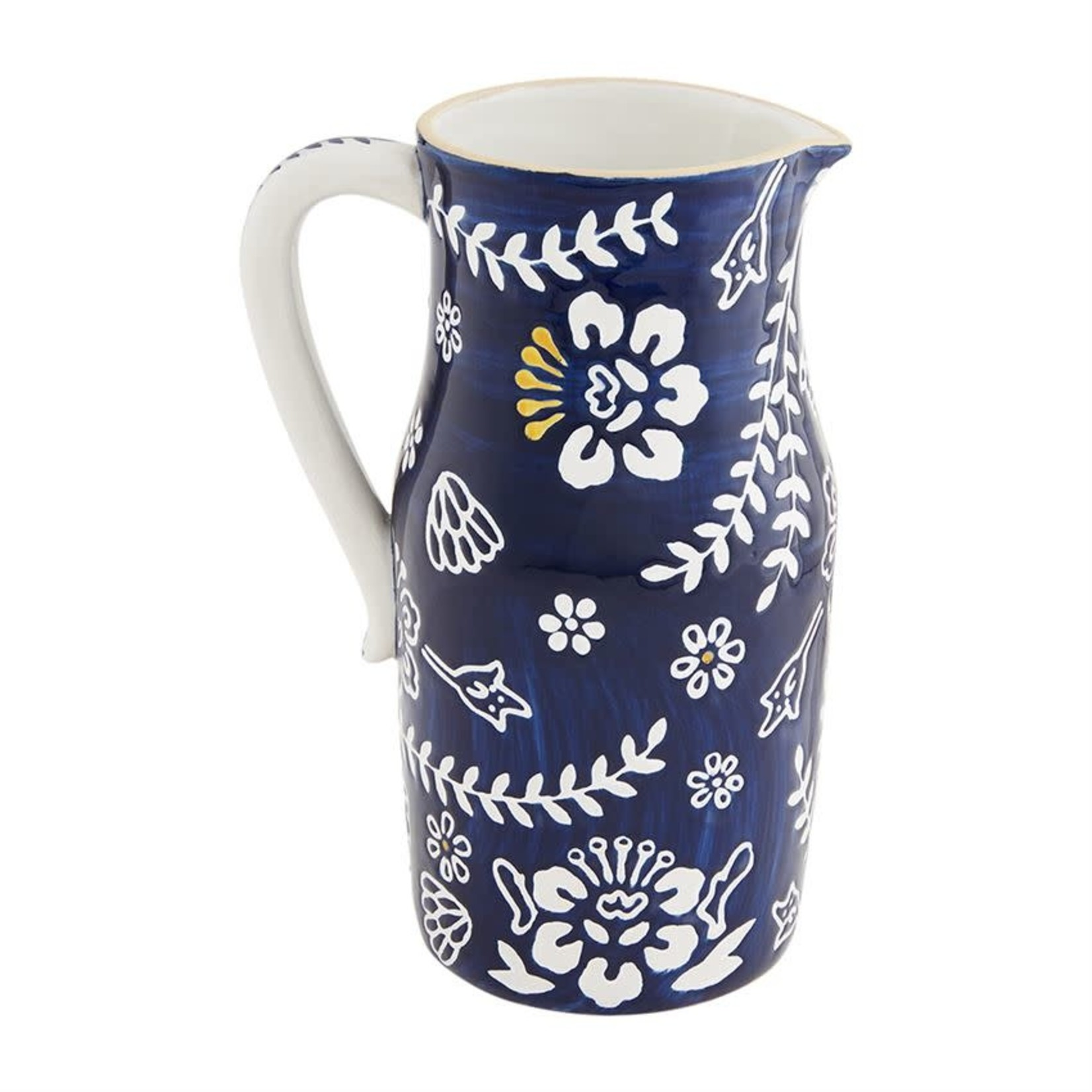 Indigo Floral Pitcher