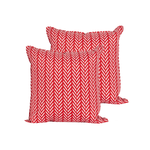 Red Stripe Outdoor Pillow Small