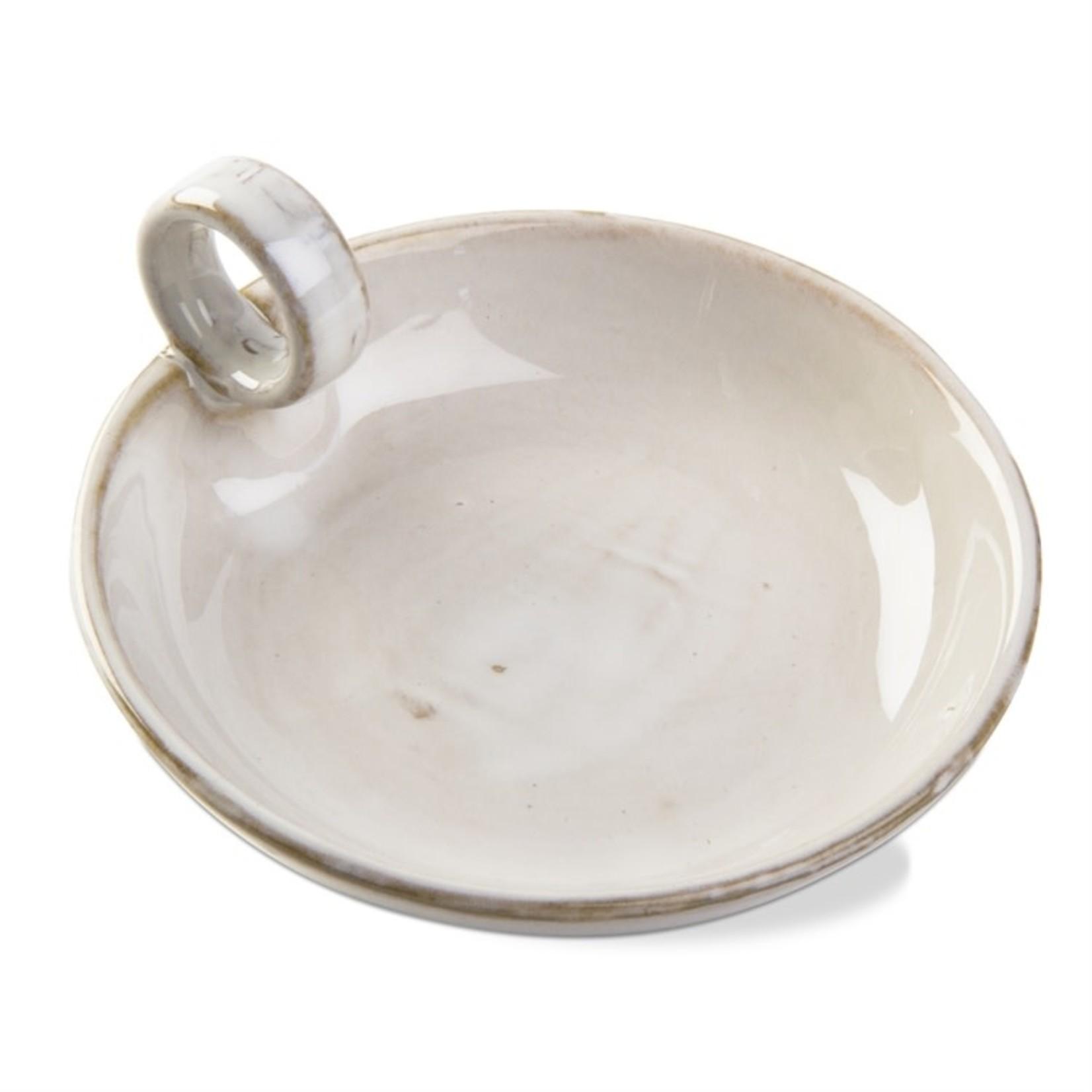 Candleholder Plate Ivory