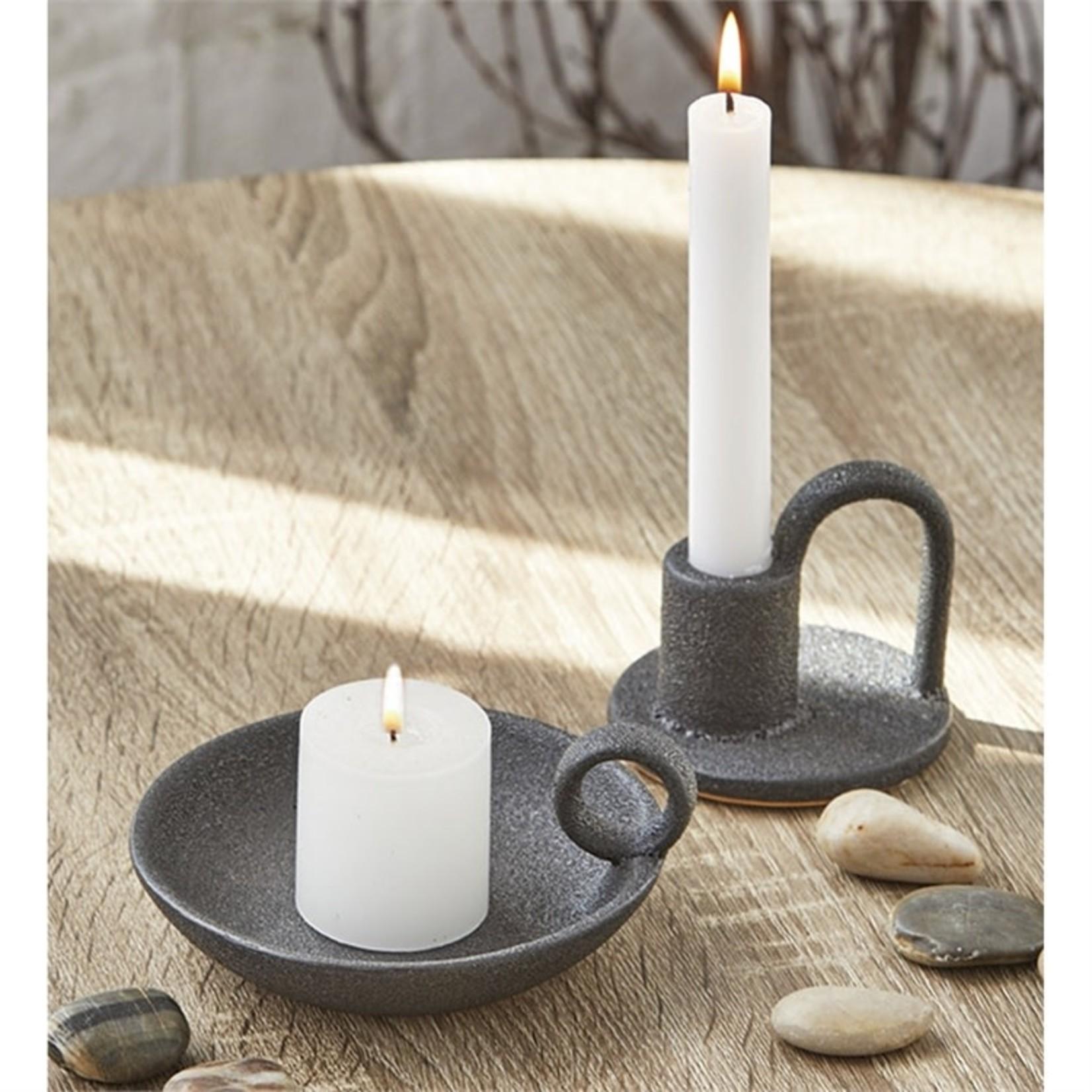 Candleholder Plate Black
