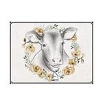 Flower Wreath Cow Mat (Multiple Sizes)