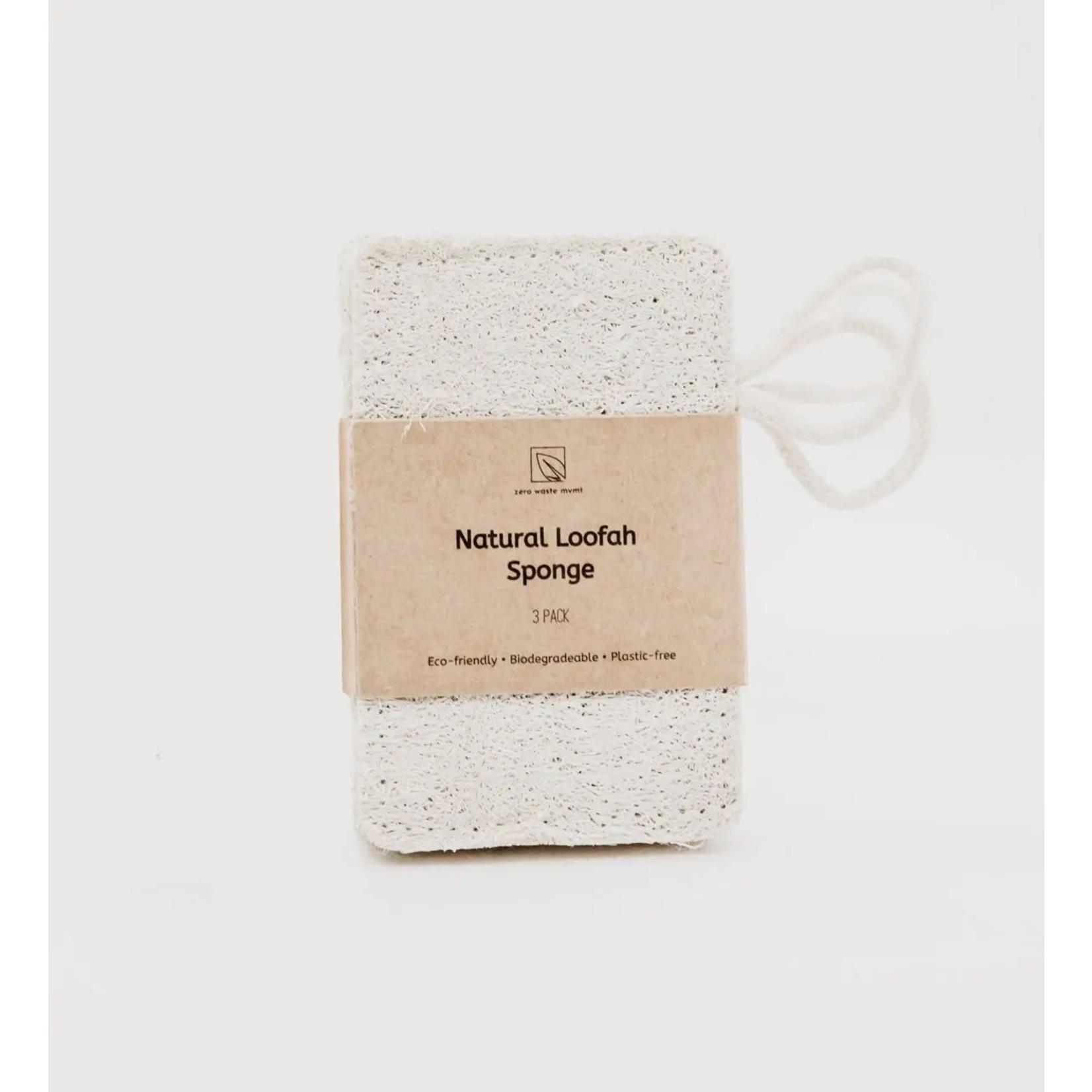 Natural Loofah Sponge 3 Pack