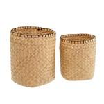 Blanket Stitch Tall Basket (Multiple Sizes)