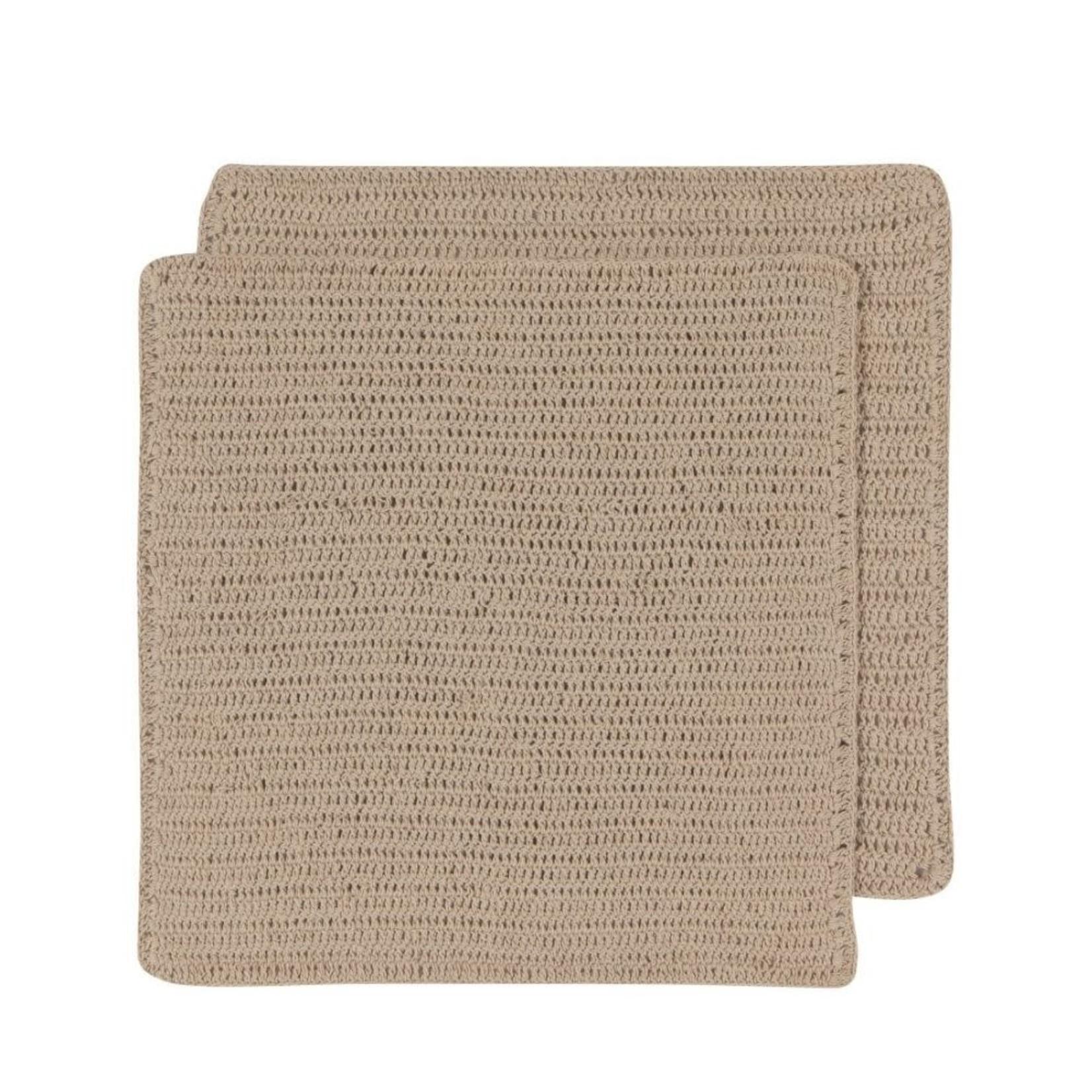 Homespun Dish Cloth Set in Sandstone