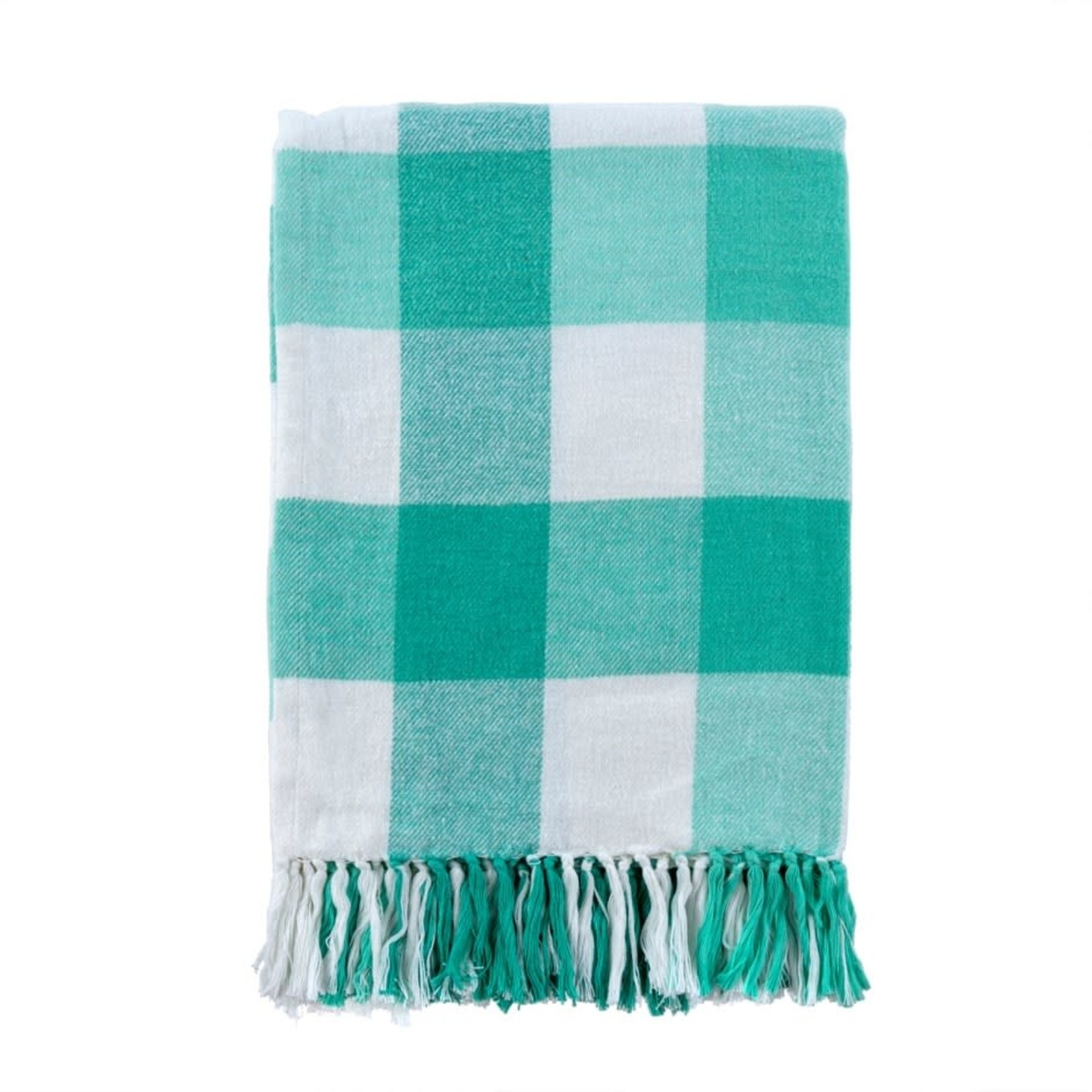 Gingham Picnic Throw, Turquoise