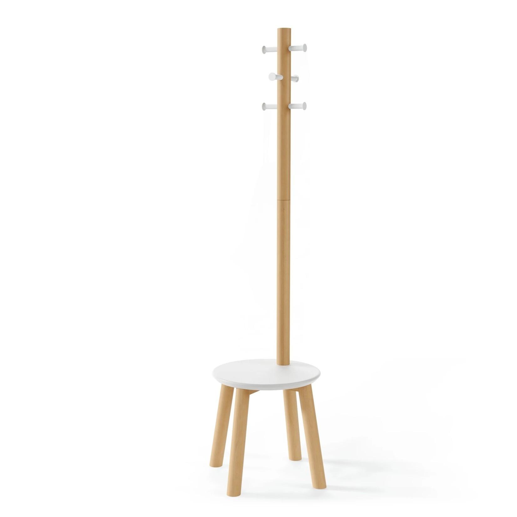 Pillar Coat Rack, White